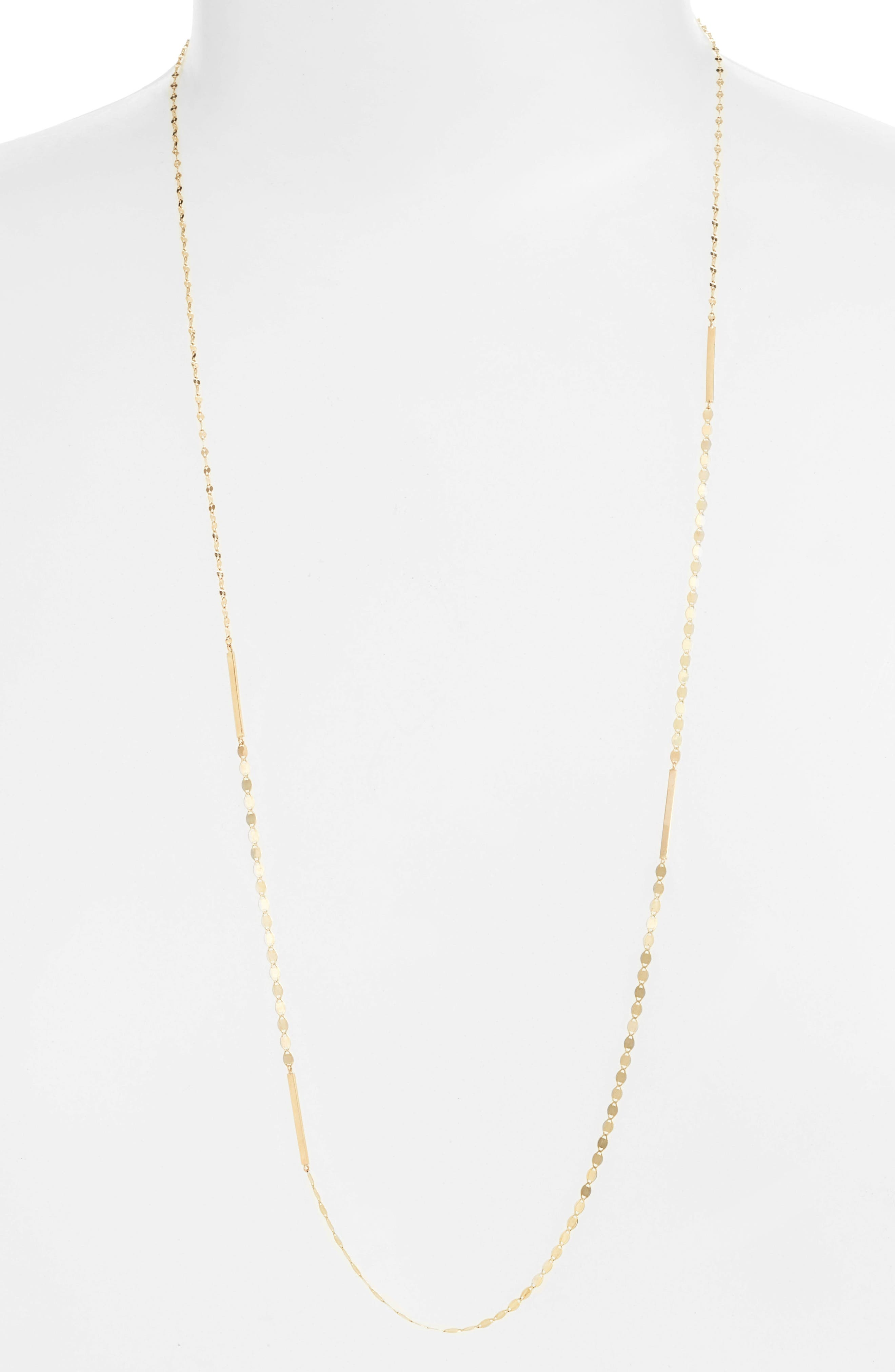 Lana Jewelry Nude Remix Bar Long Necklace