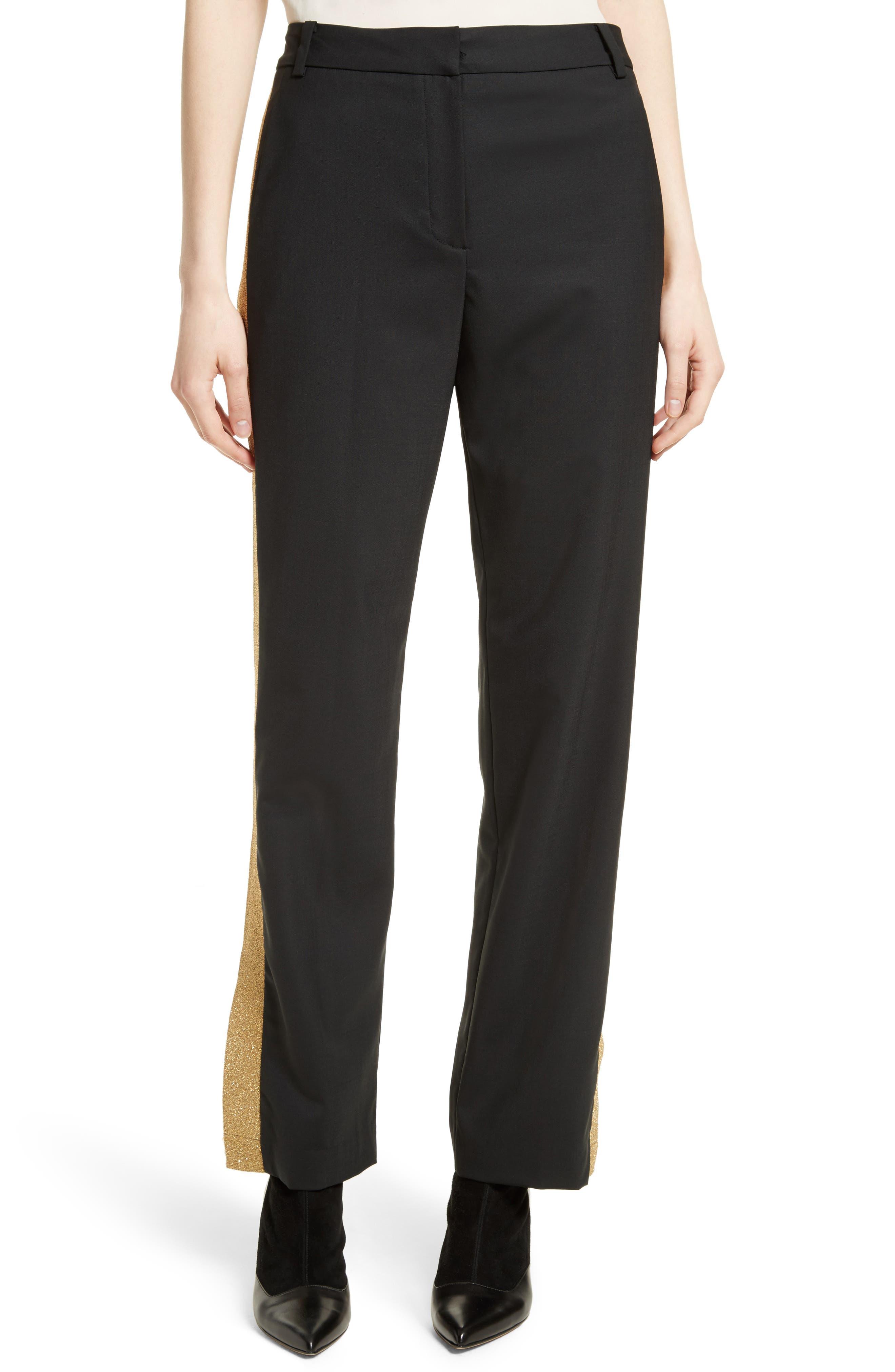Tropical Blend Tuxedo Pants,                         Main,                         color, Black