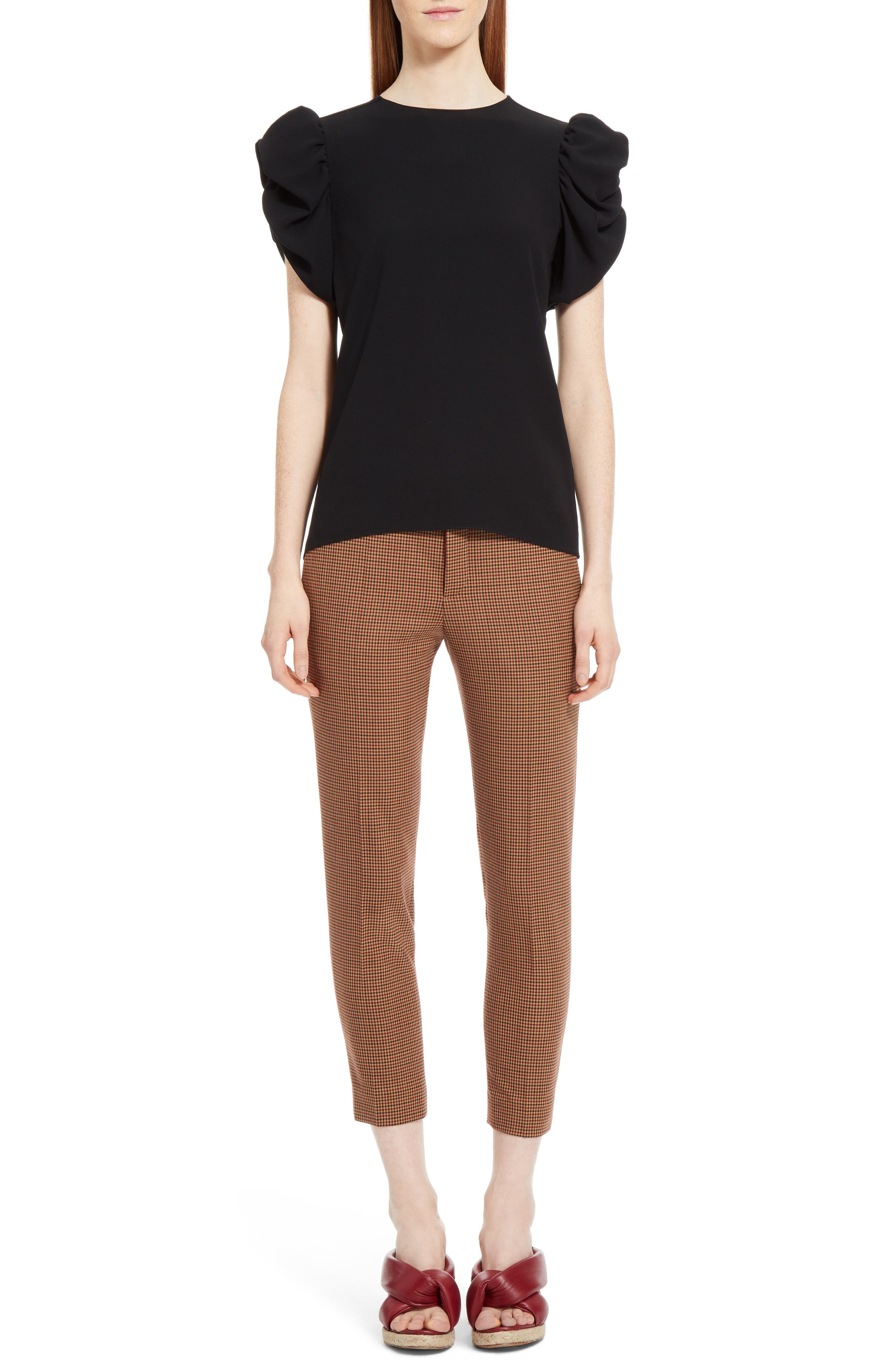 Alternate Image 6  - Chloé Check Crop Pants