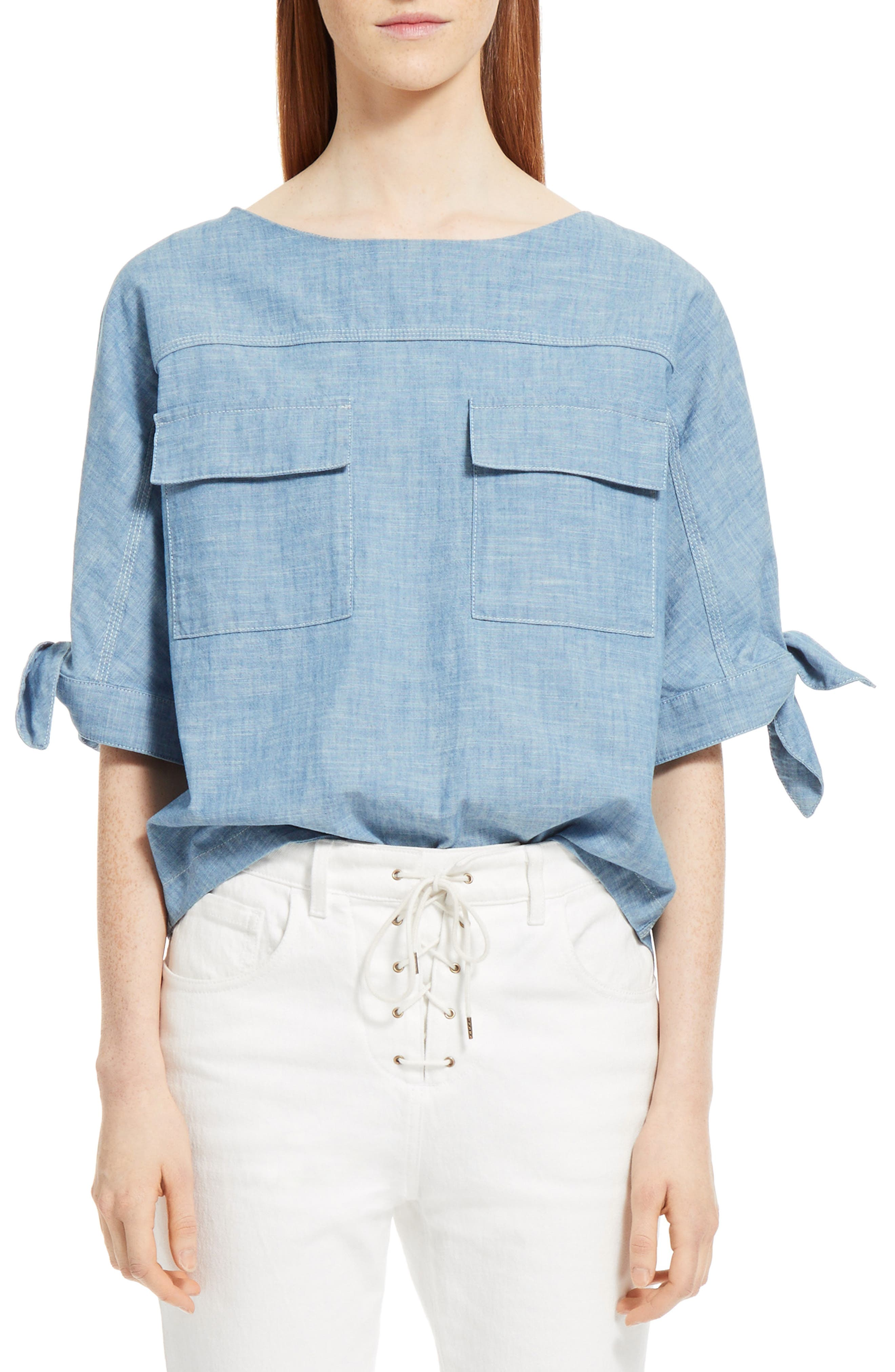 Chloé Chambray Top