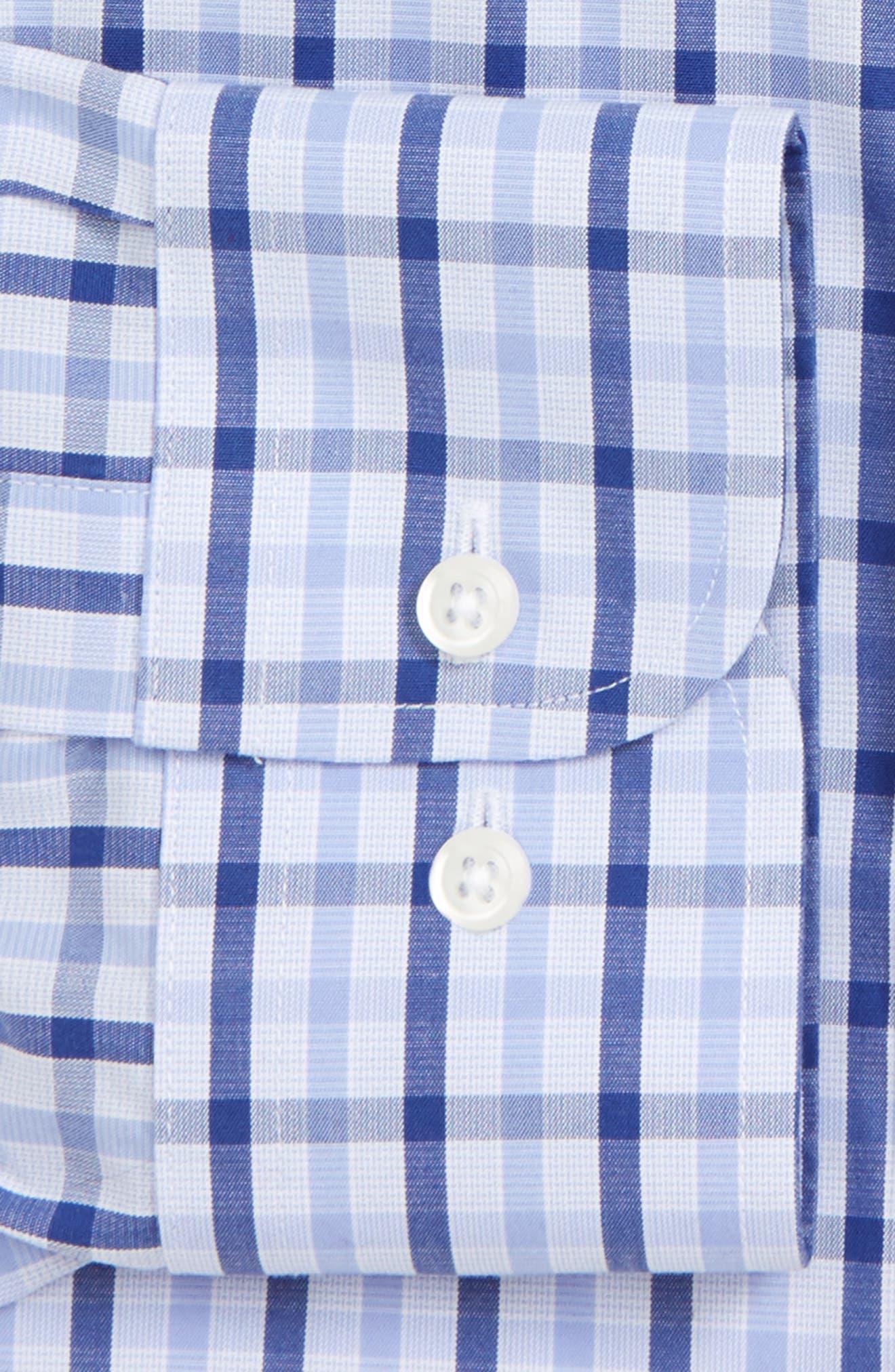 Smartcare<sup>™</sup> Trim Fit Check Dress Shirt,                             Alternate thumbnail 2, color,                             Blue Marine