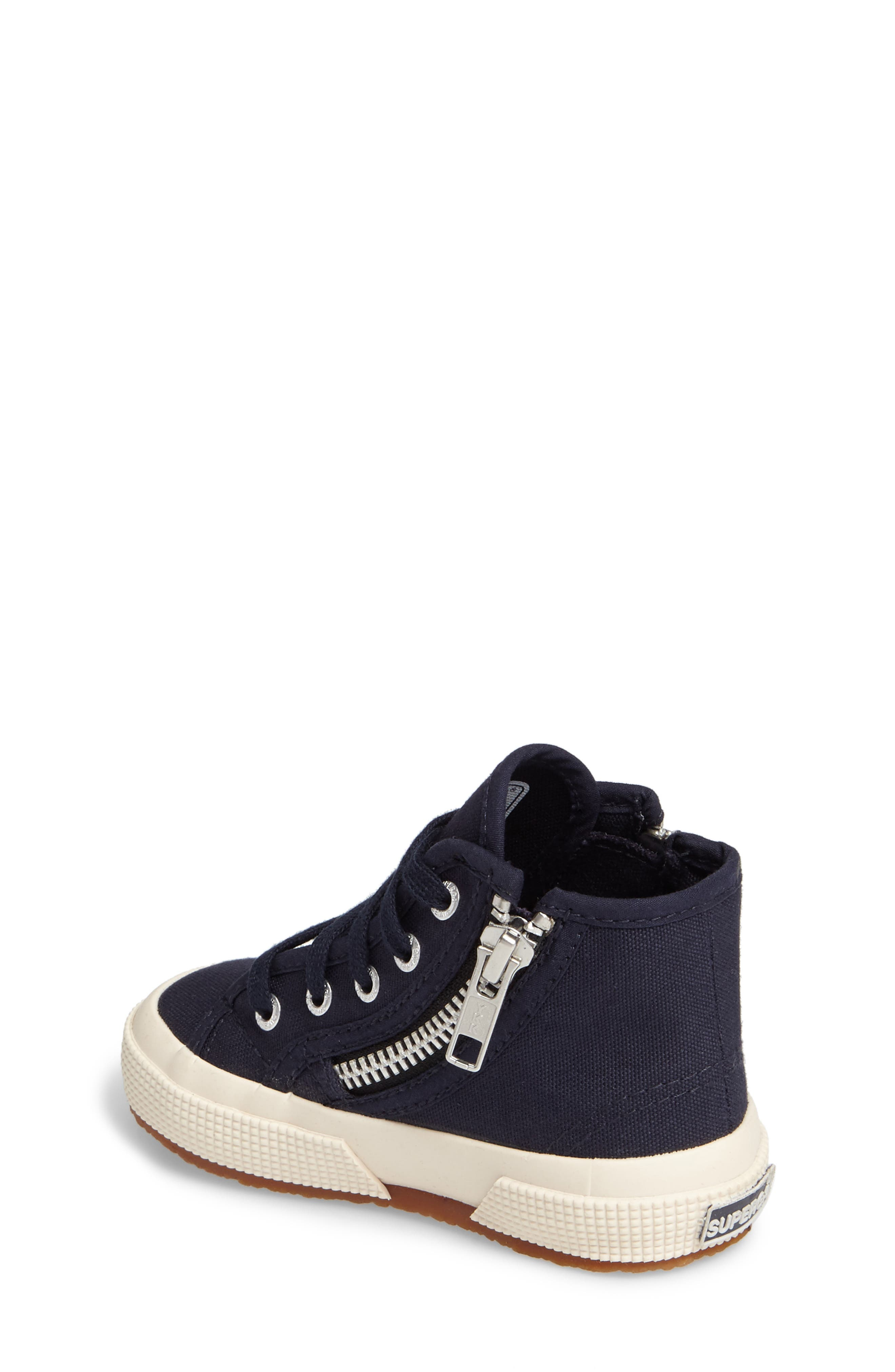 Alternate Image 2  - Superga Zip High Top Sneaker (Walker, Toddler & Little Kid)