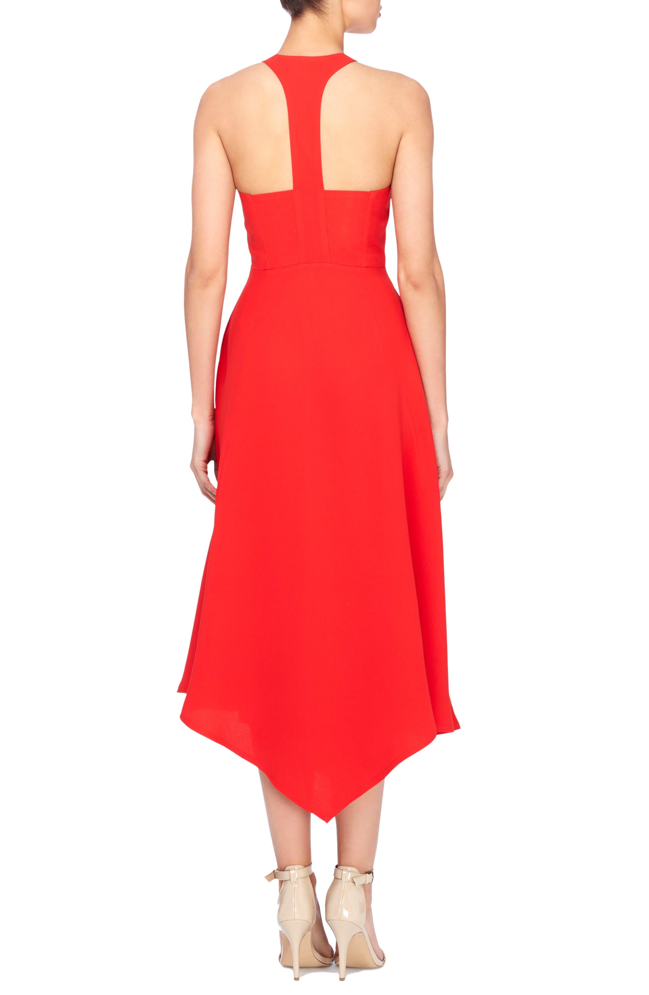 Reggie T-Back Fit & Flare Dress,                             Alternate thumbnail 2, color,                             Tomato Red