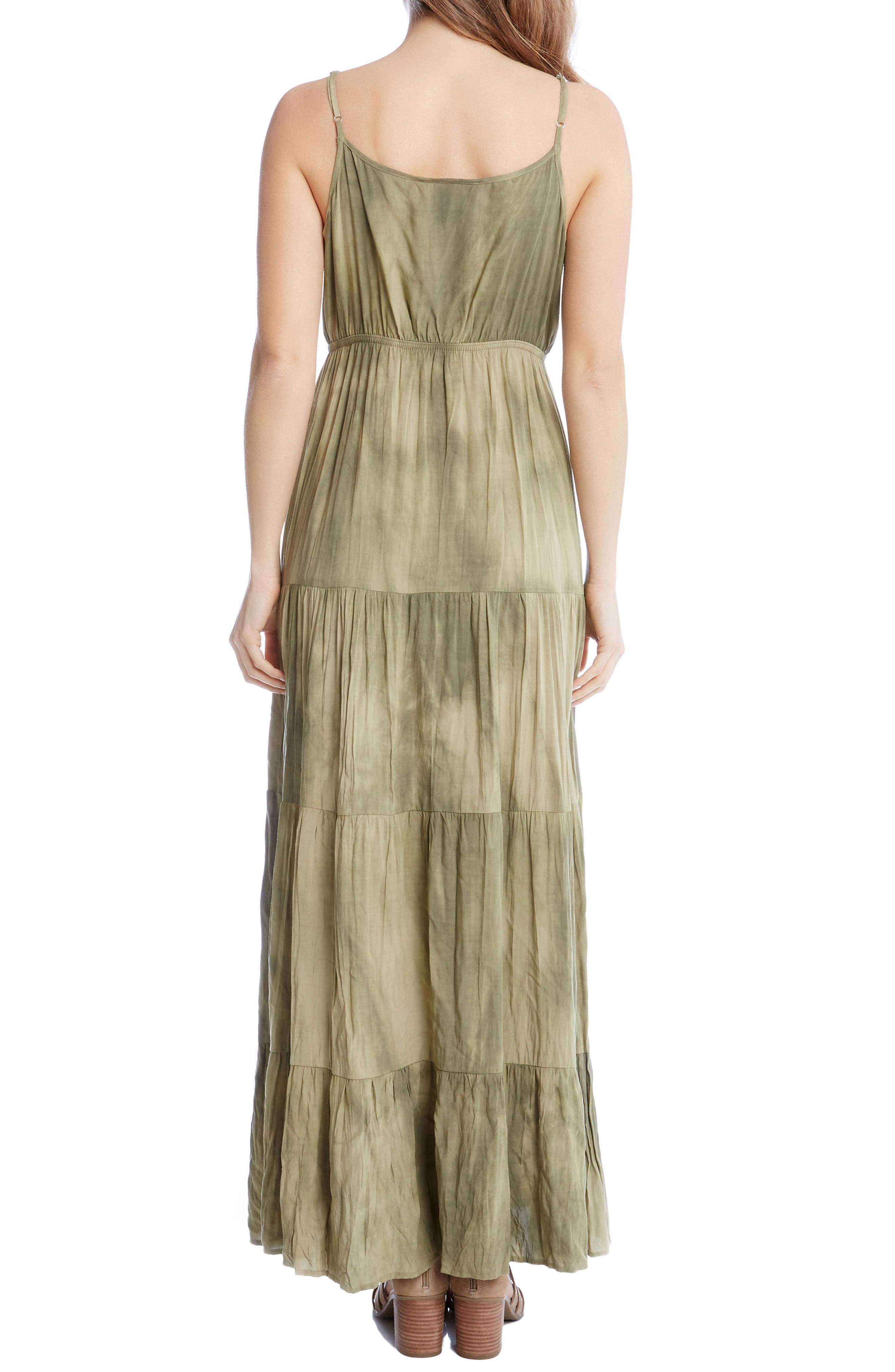 Tiered Maxi Dress,                             Alternate thumbnail 3, color,                             Tie Dye