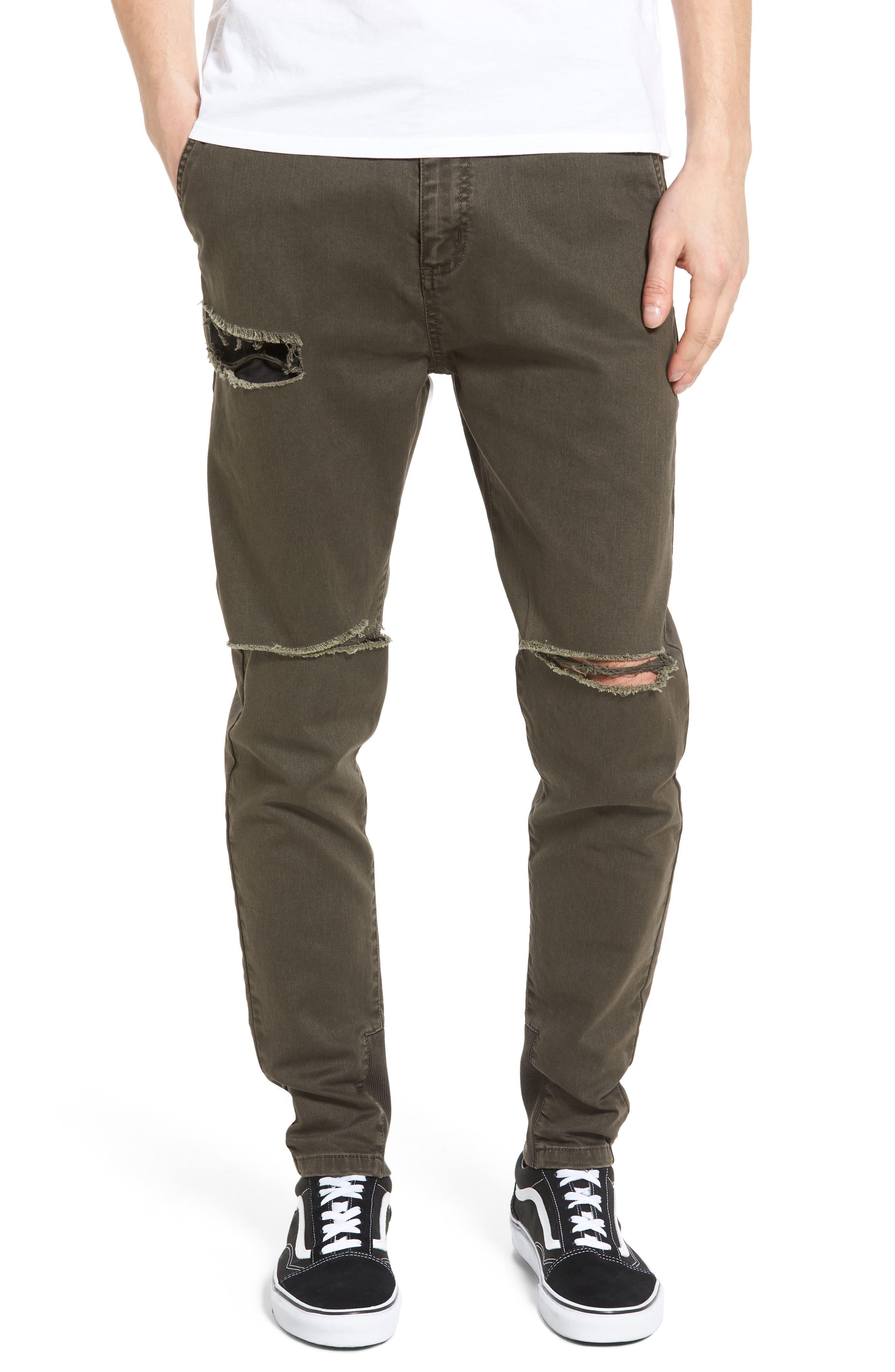 ZANEROBE Sharpshot Thrash Slouchy Skinny Fit Denim Pants