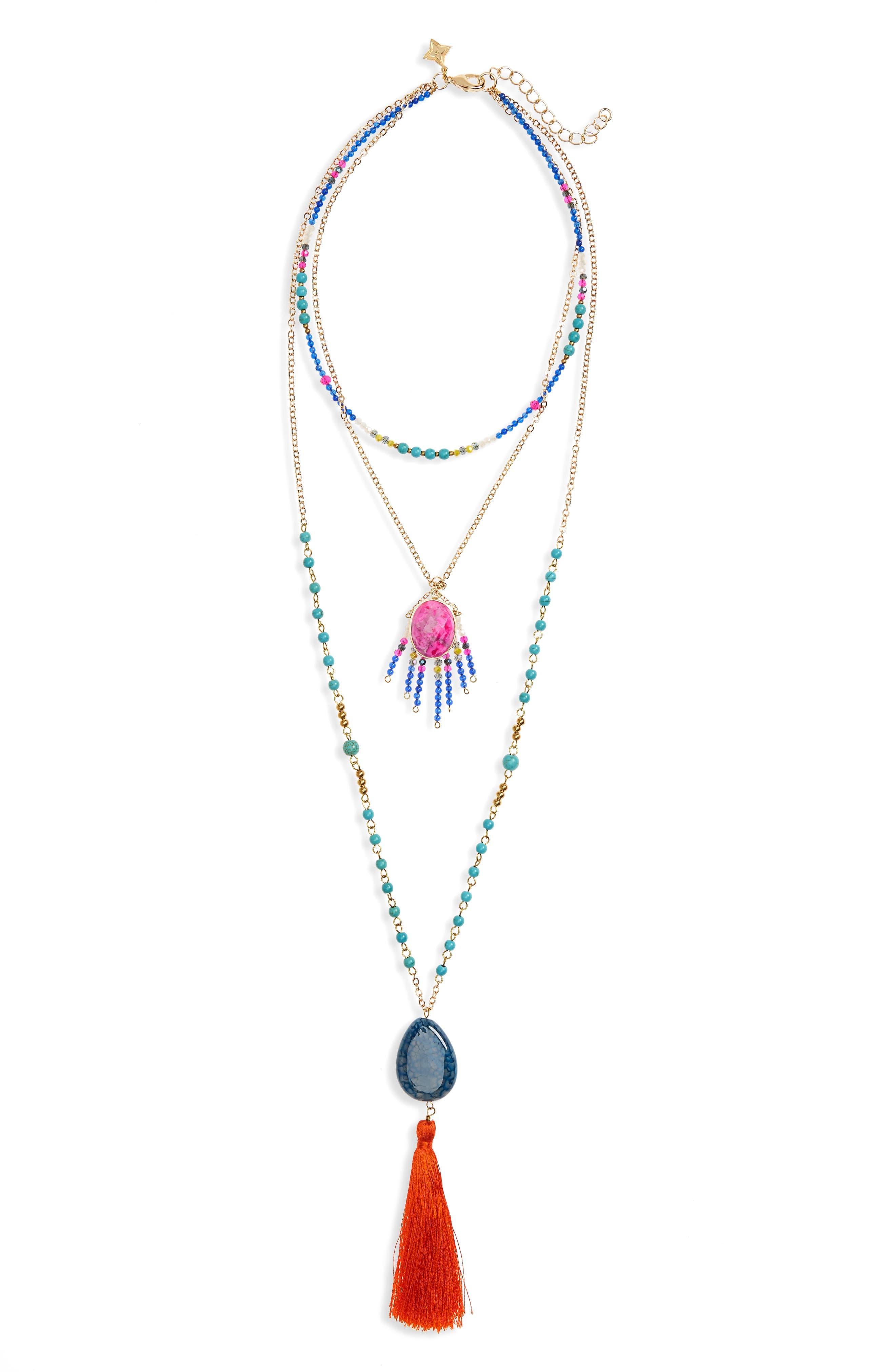 Panacea Tassel Layered Necklace