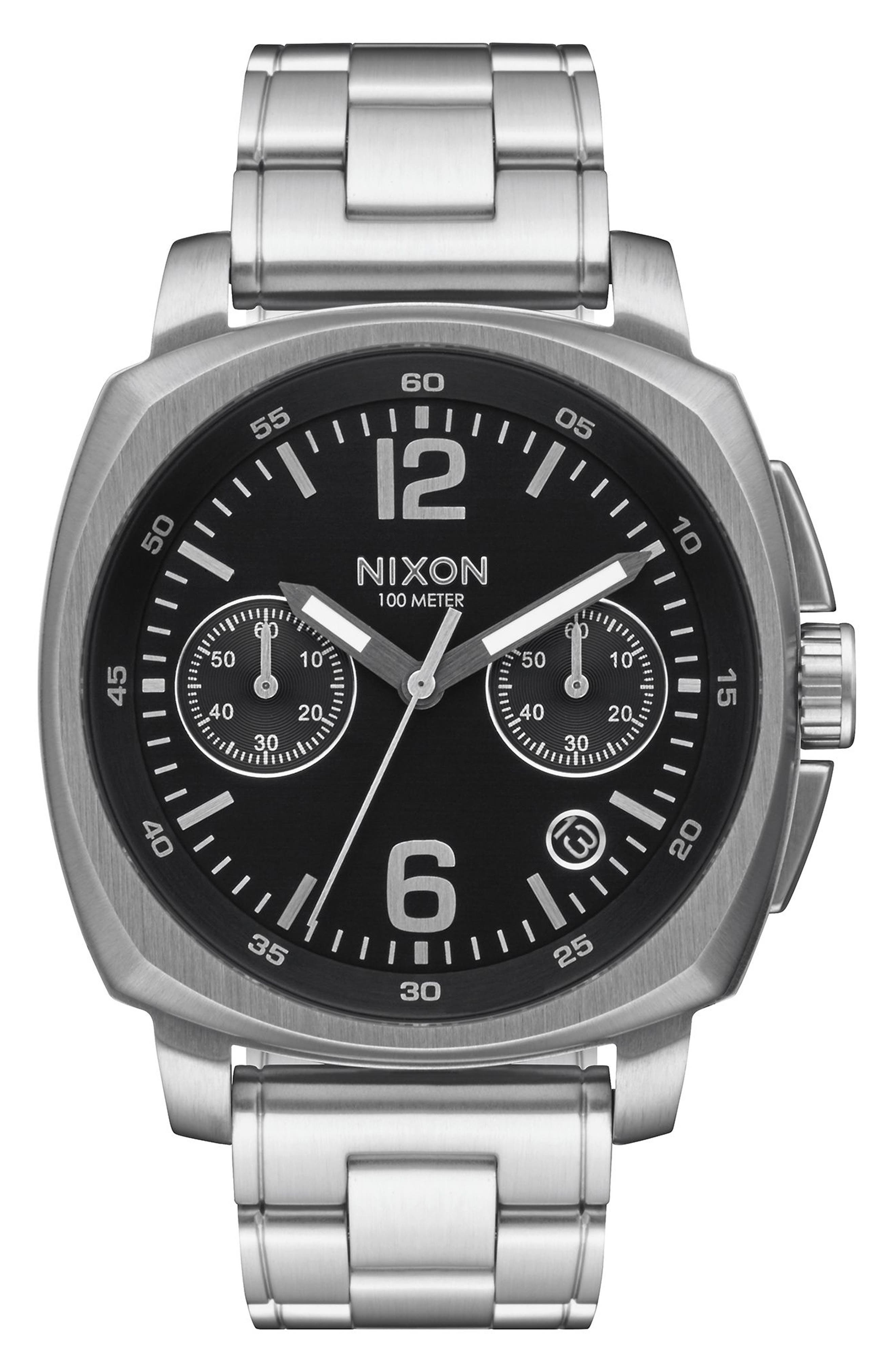 Main Image - Nixon Charger Chronograph Bracelet Watch, 42mm