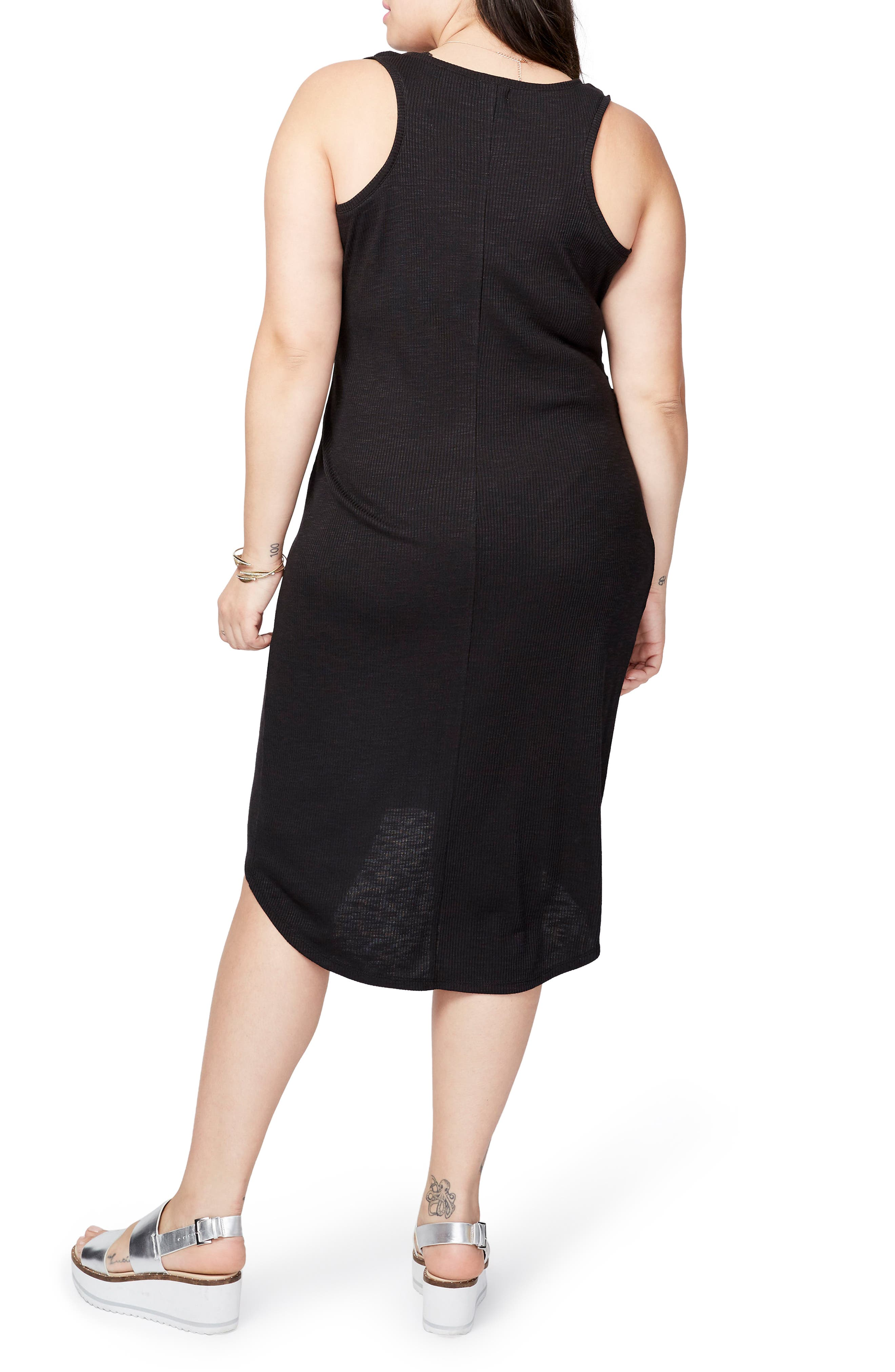 Michelle Tank Dress,                             Alternate thumbnail 2, color,                             Black