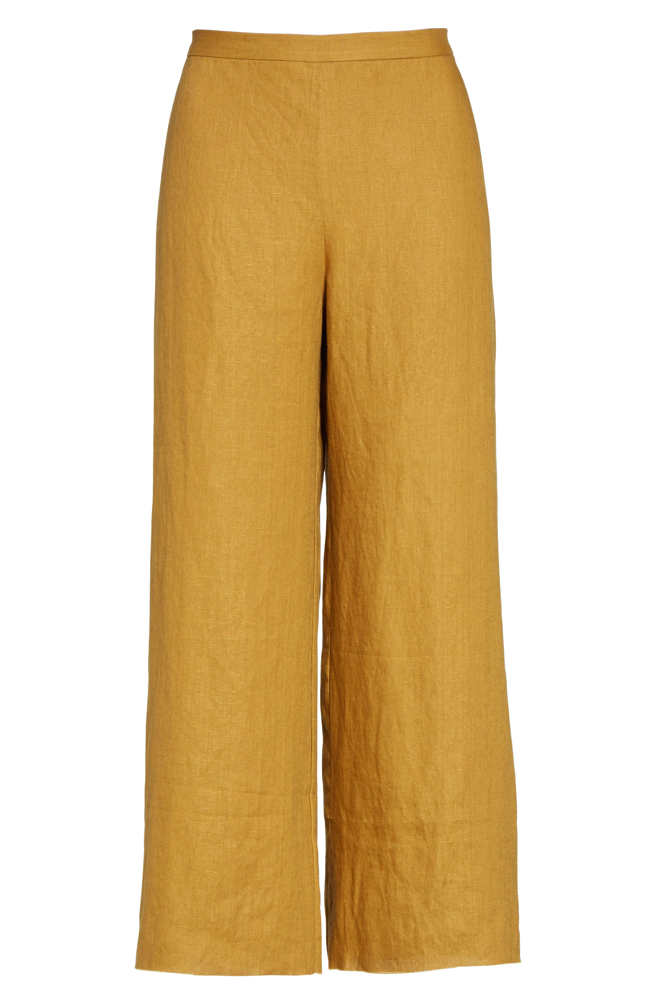 Alder Wide Leg Pants,                             Alternate thumbnail 4, color,                             Maize
