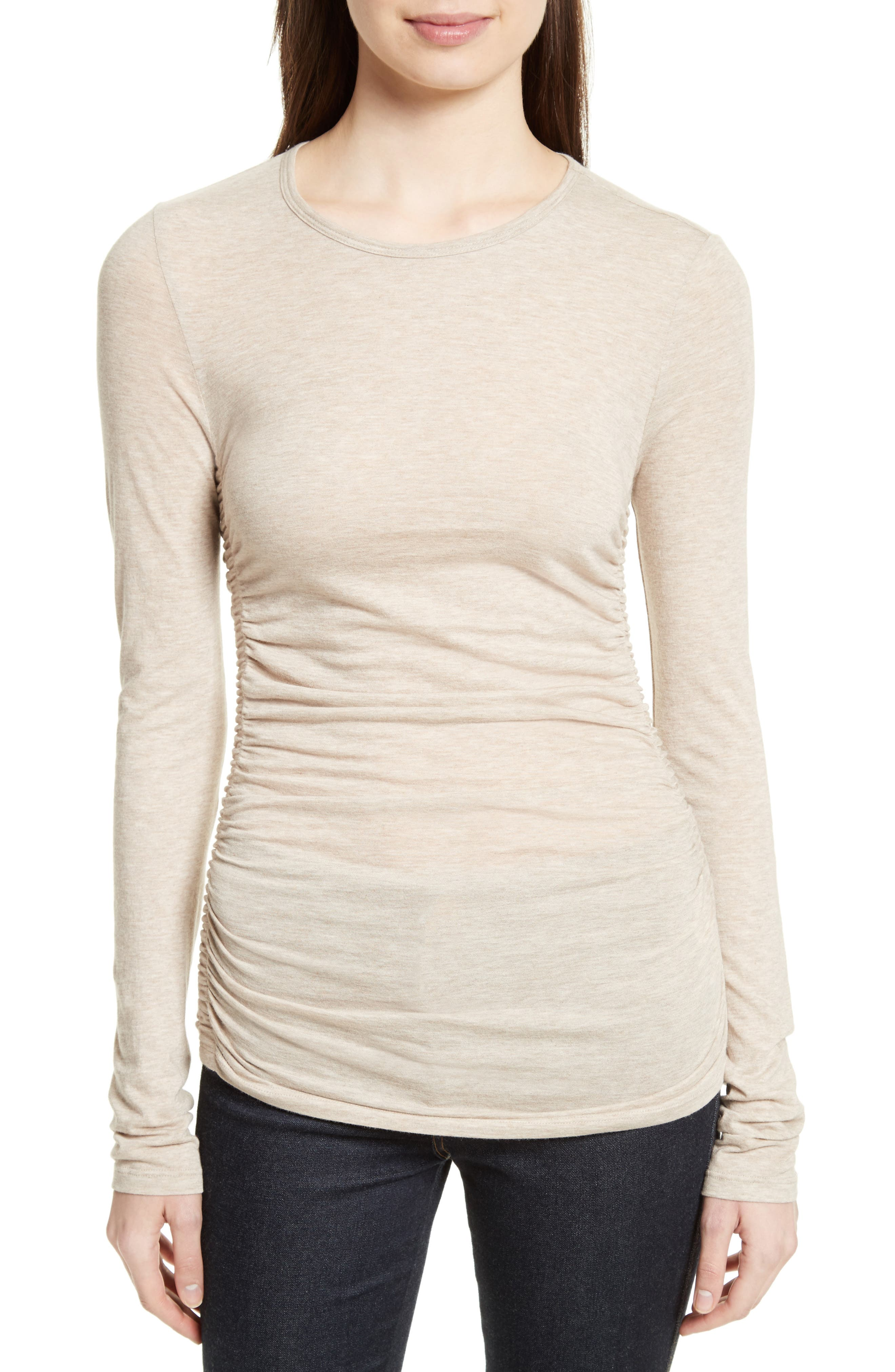 Theory Plume Ruched Jersey Tee
