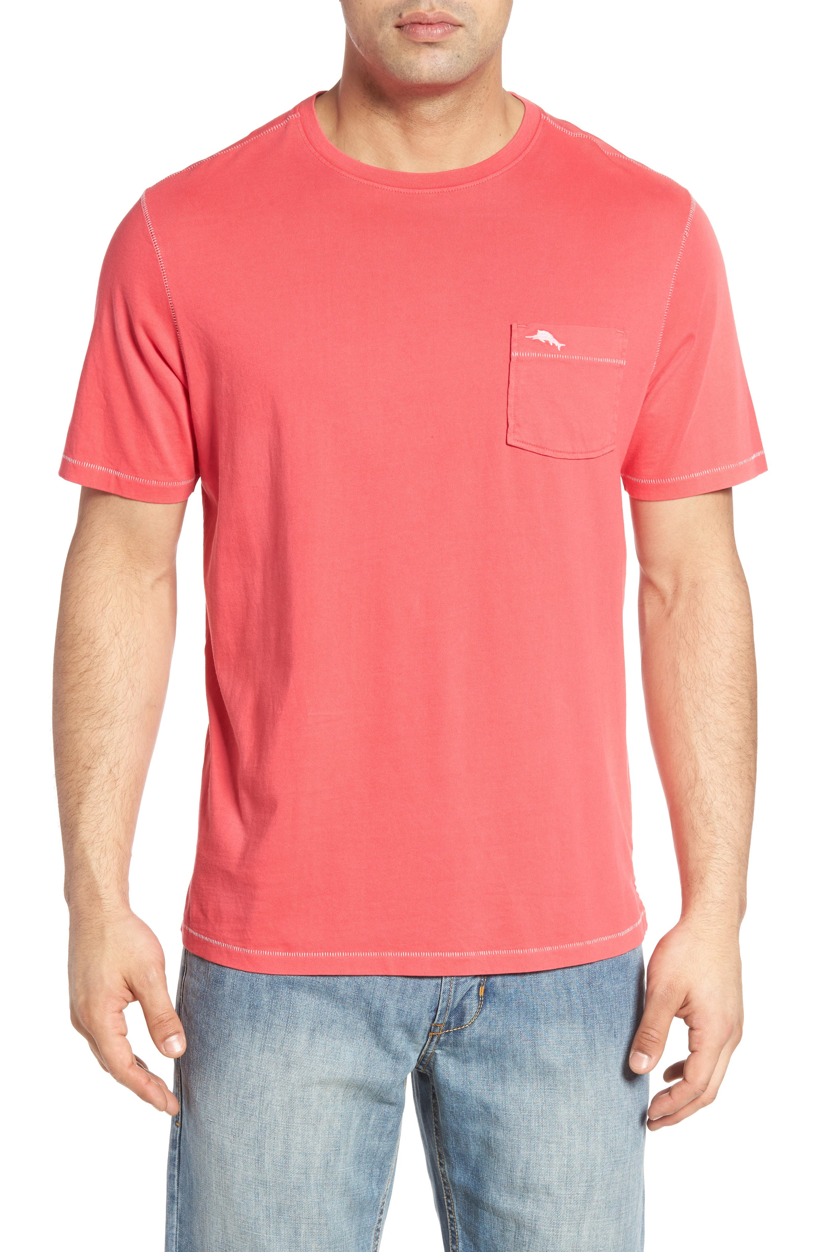 Tommy Bahama 'New Bahama Reef' Island Modern Fit Pima Cotton Pocket T-Shirt