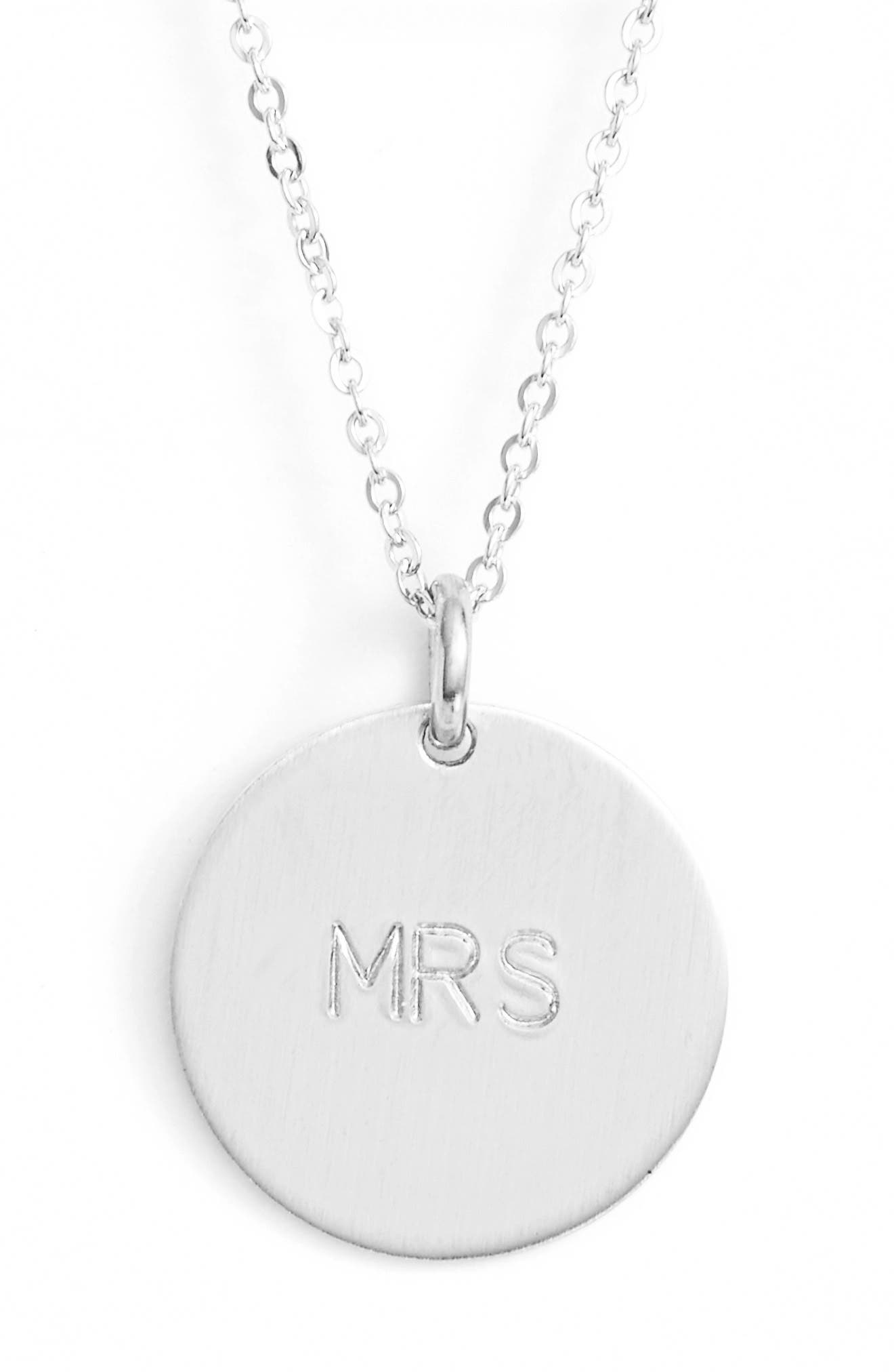 Newlywed Pendant Necklace,                         Main,                         color, Silver