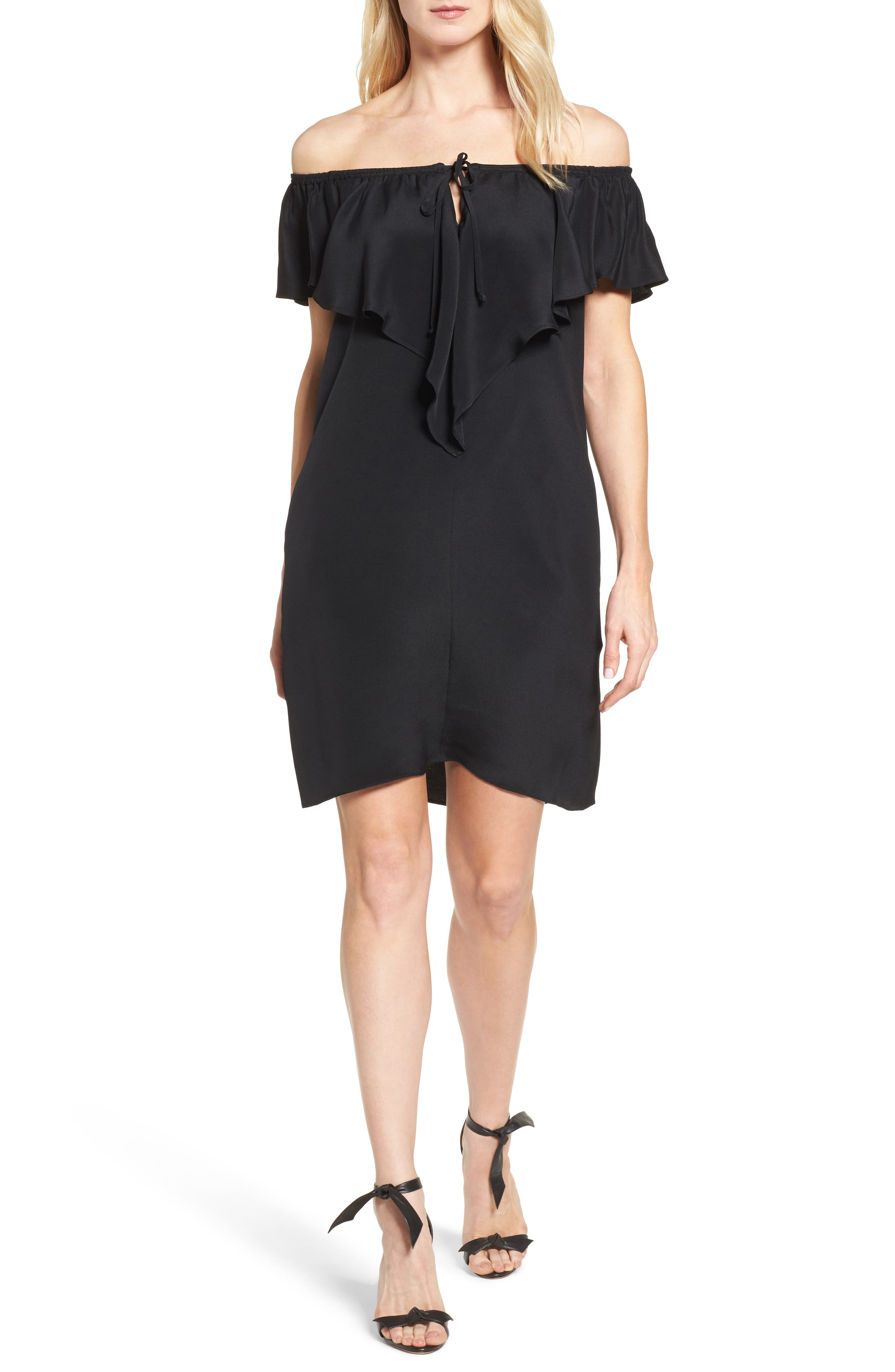 KOBI HALPERIN Lani Off the Shoulder Silk Dress