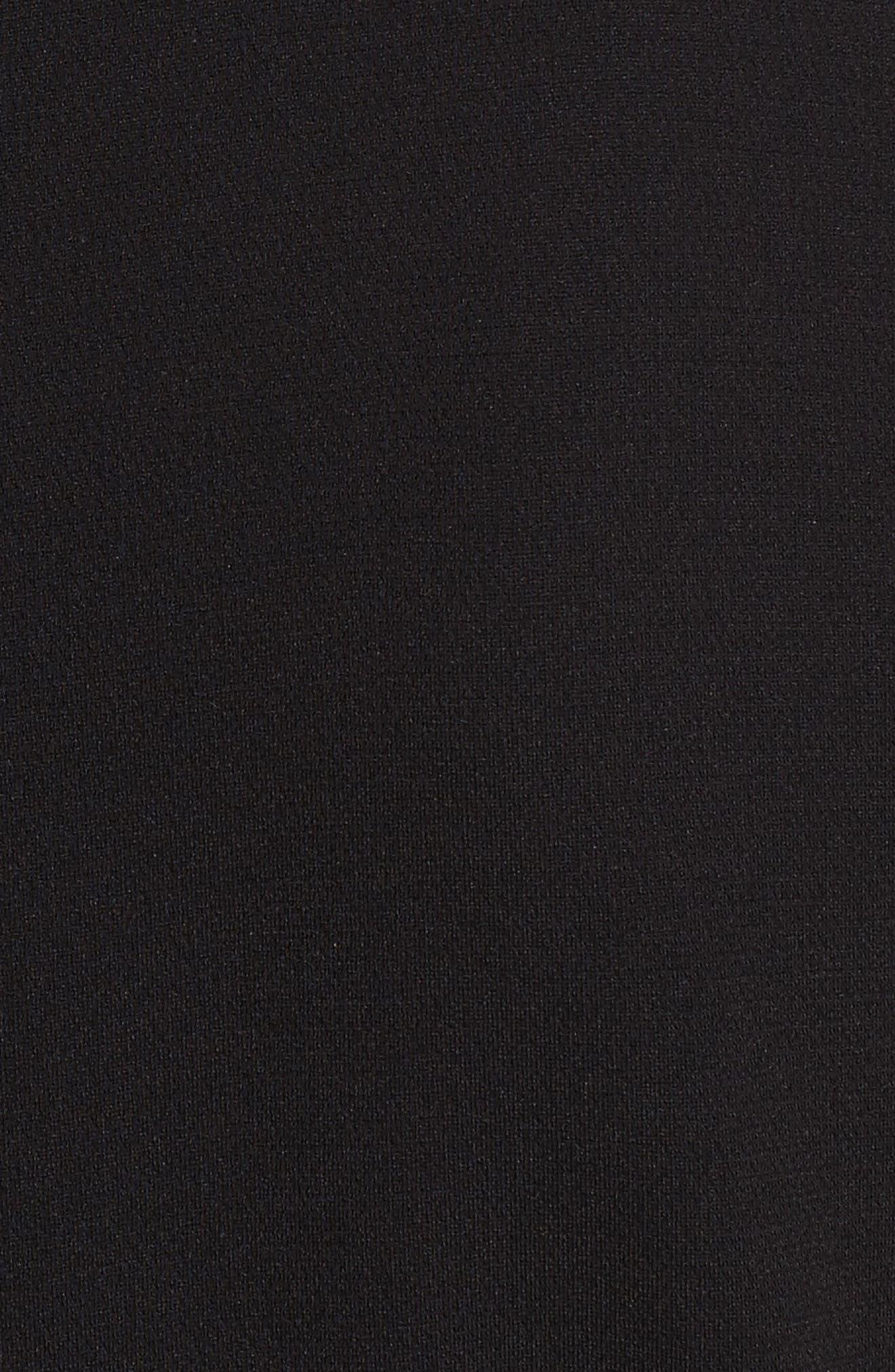 Desza Belted Admiral Crepe Fit & Flare Dress,                             Alternate thumbnail 5, color,                             Black