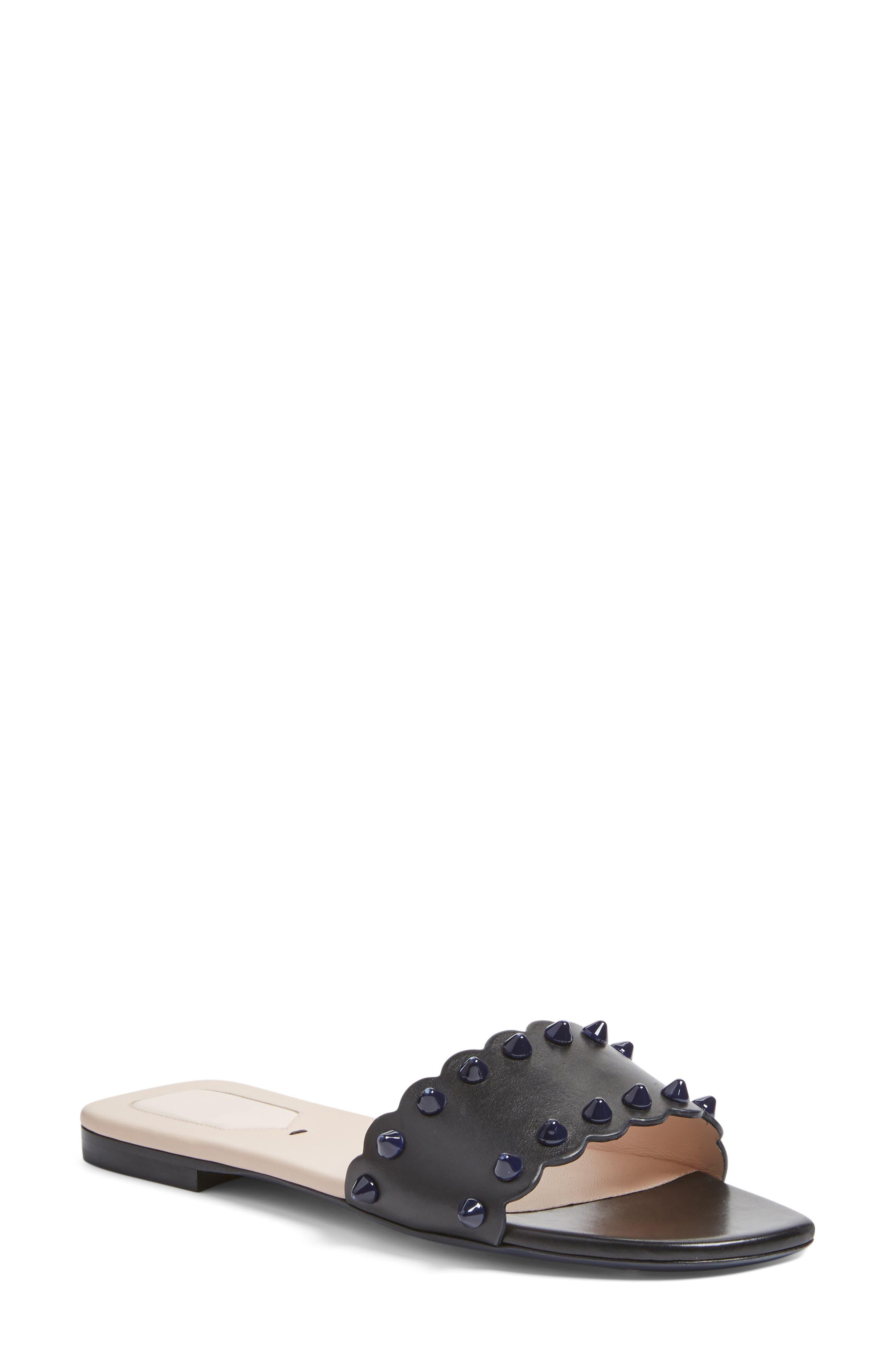 Fendi Studded Slide Sandal (Women)