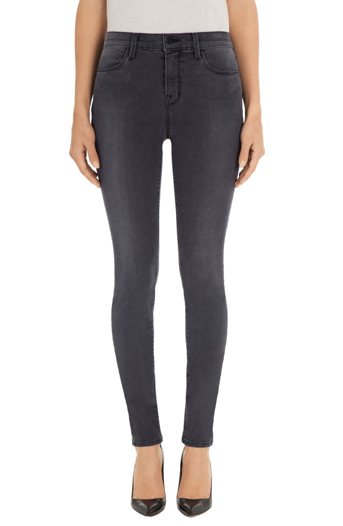 Alternate Image 1 Selected - J Brand Maria High Waist Skinny Jeans (Nightbird)