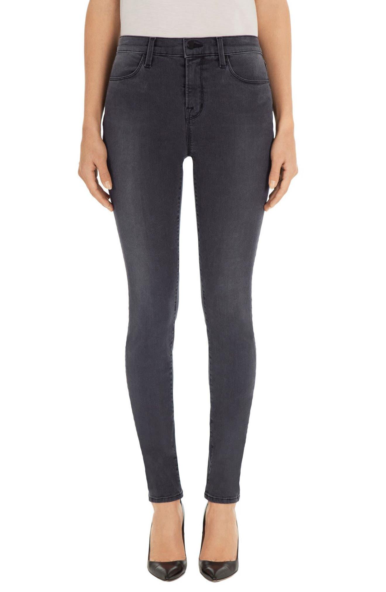 Main Image - J Brand Maria High Waist Skinny Jeans (Nightbird)