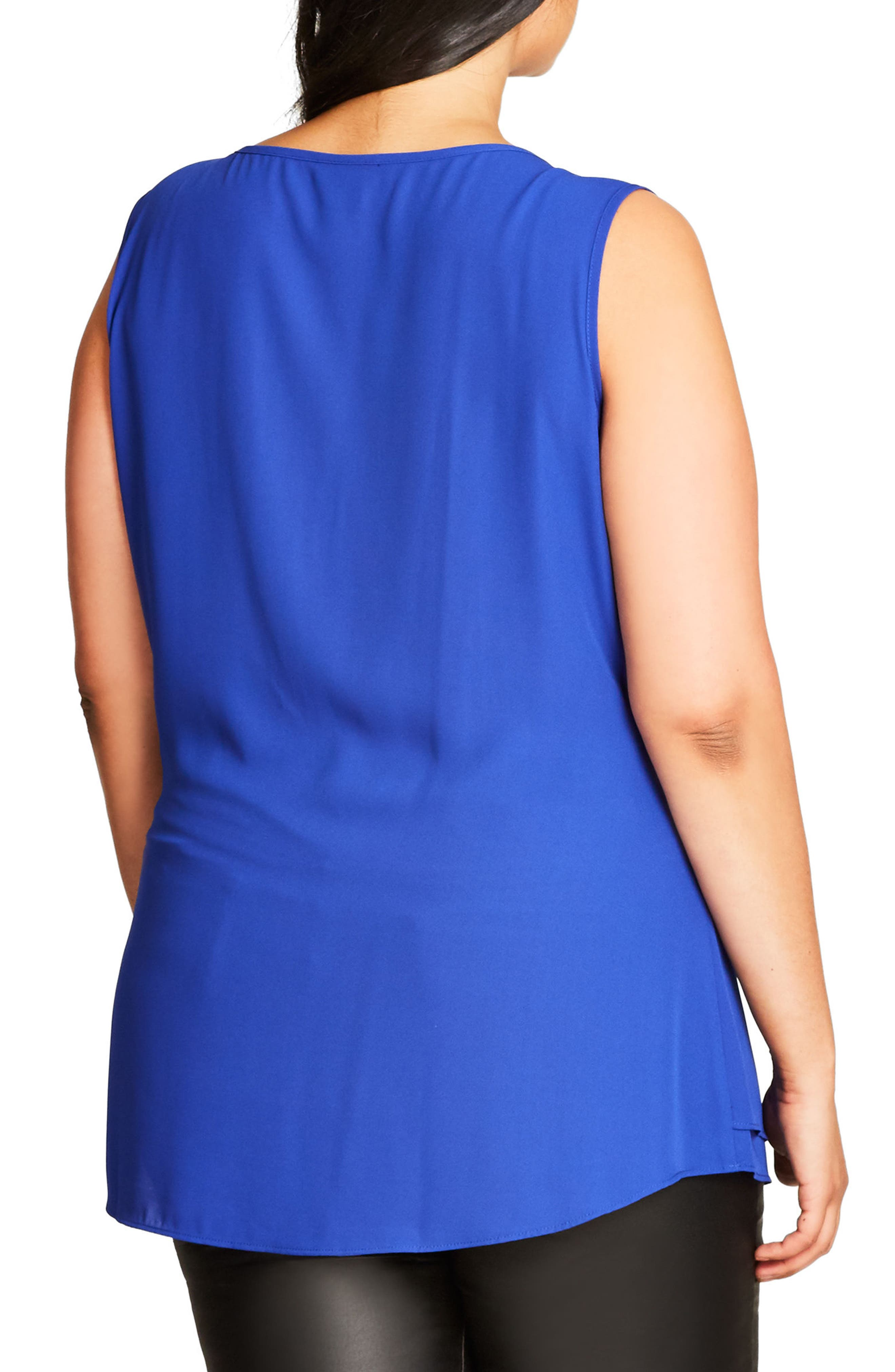 Alternate Image 2  - City Chic Sweet Zip Front Top (Plus Size)