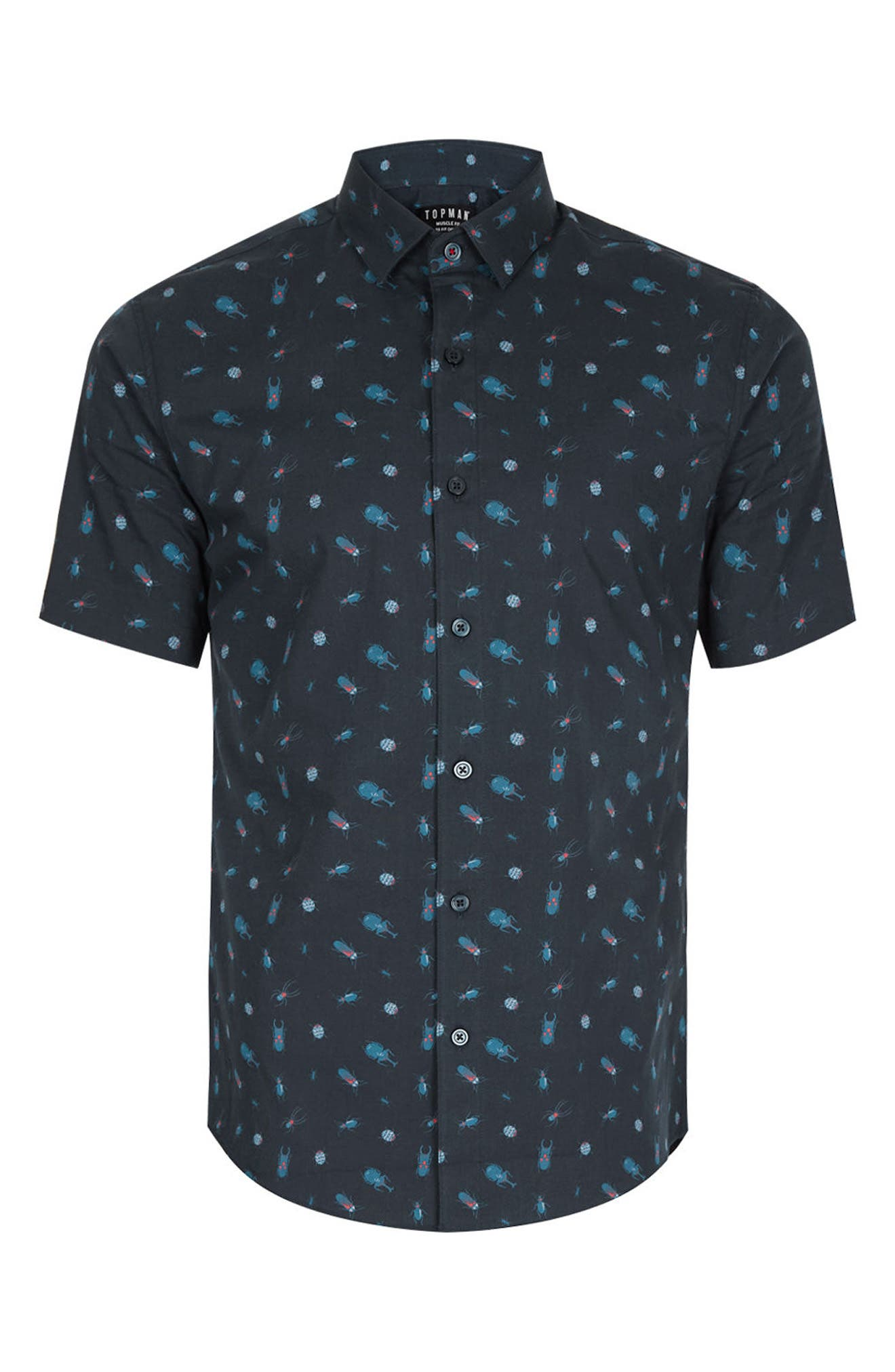 Alternate Image 5  - Topman Muscle Fit Bug Print Shirt