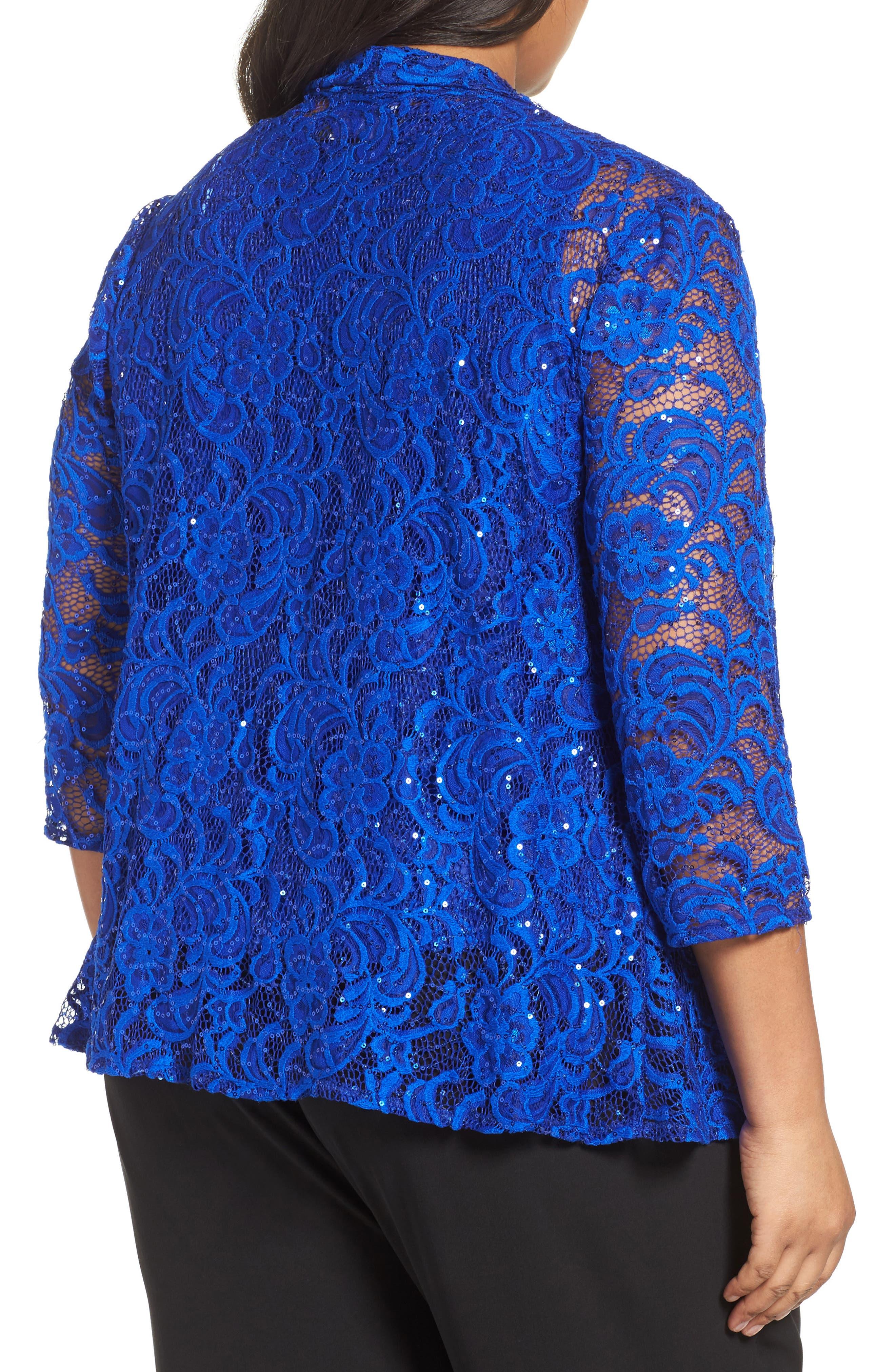 Sequin Lace Twinset,                             Alternate thumbnail 2, color,                             Bright Sapphire
