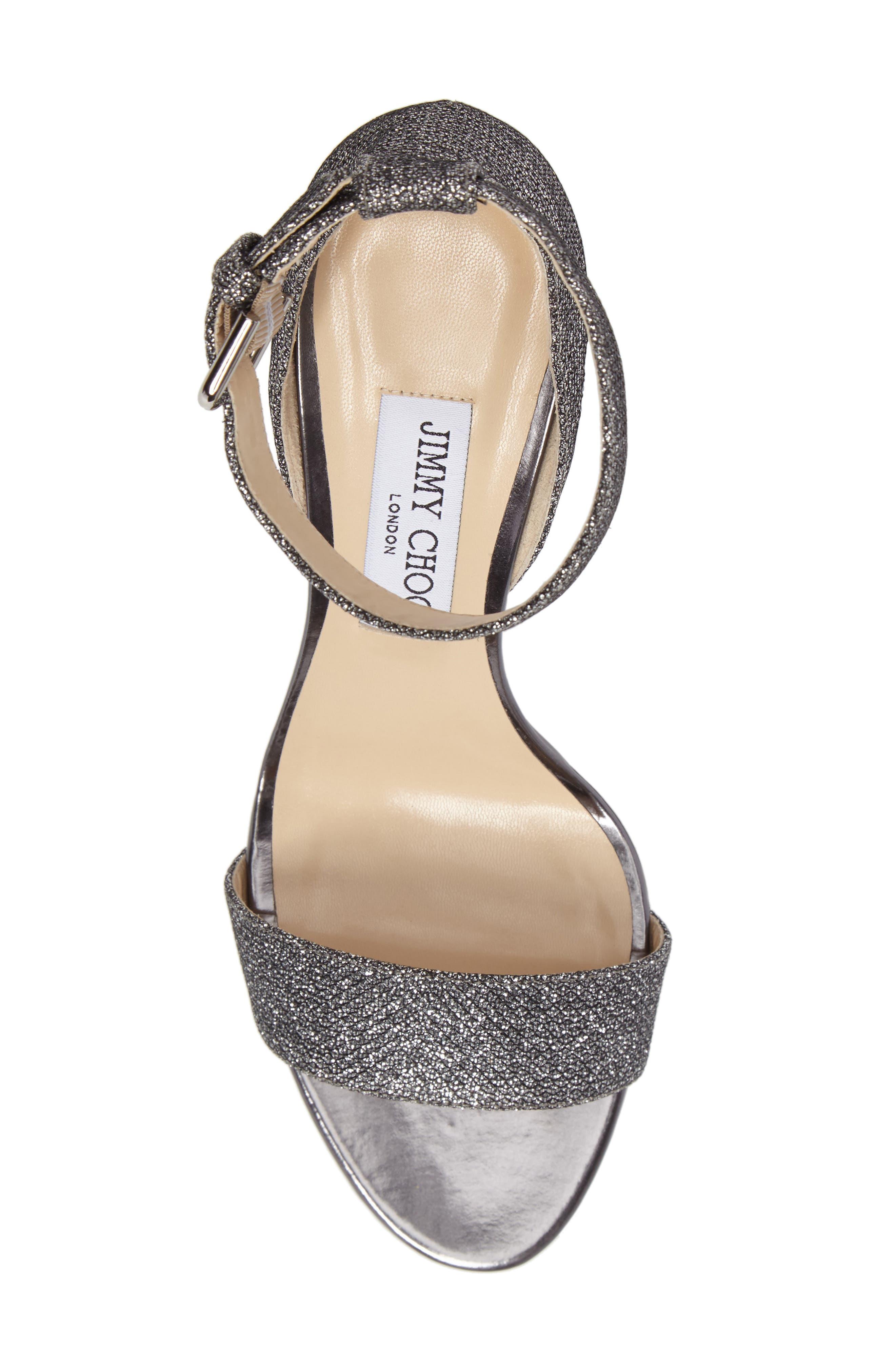 Edina Ankle Strap Sandal,                             Alternate thumbnail 5, color,                             Anthracite