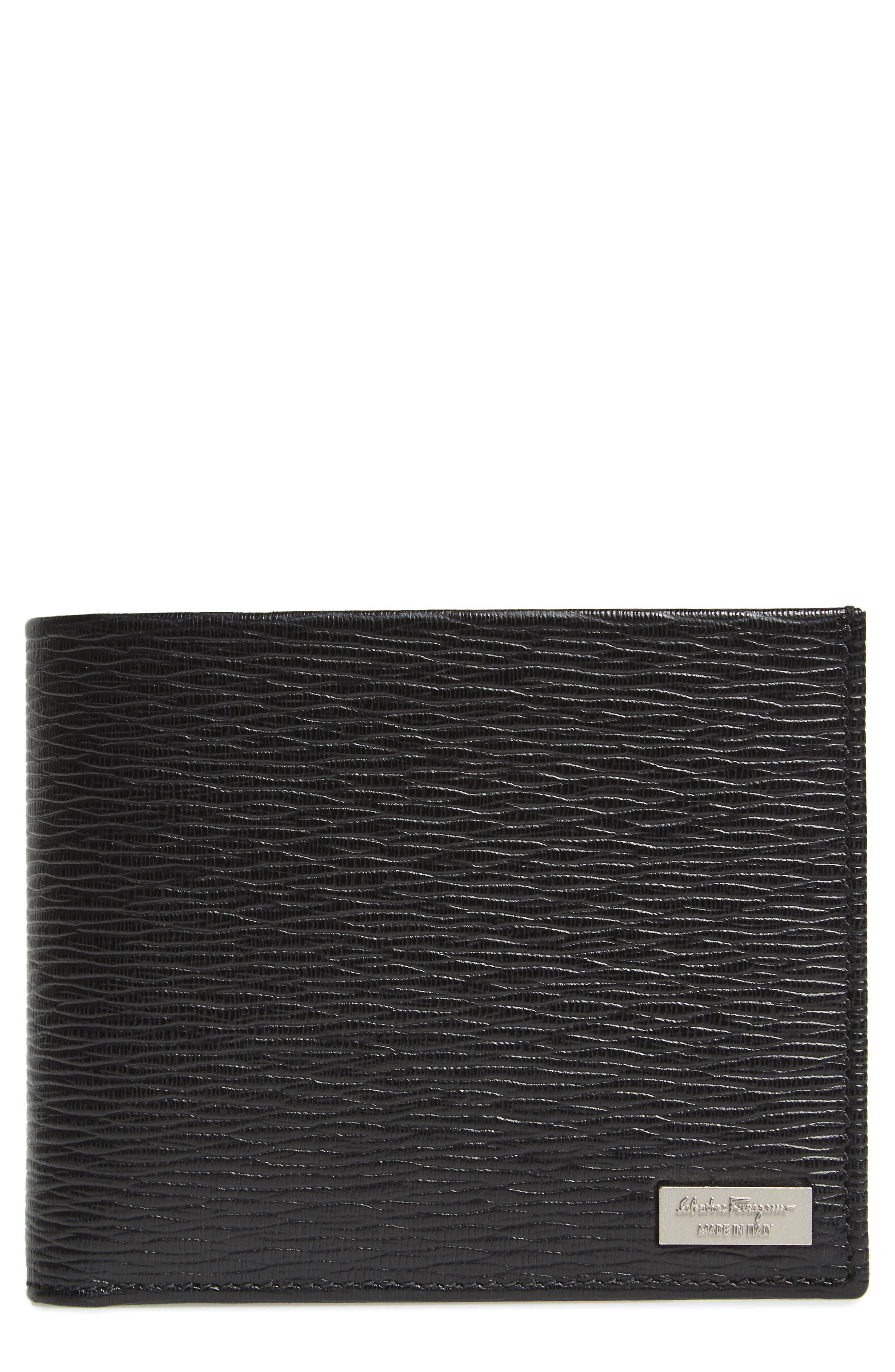 Revival Leather Wallet,                         Main,                         color, Black/ Red
