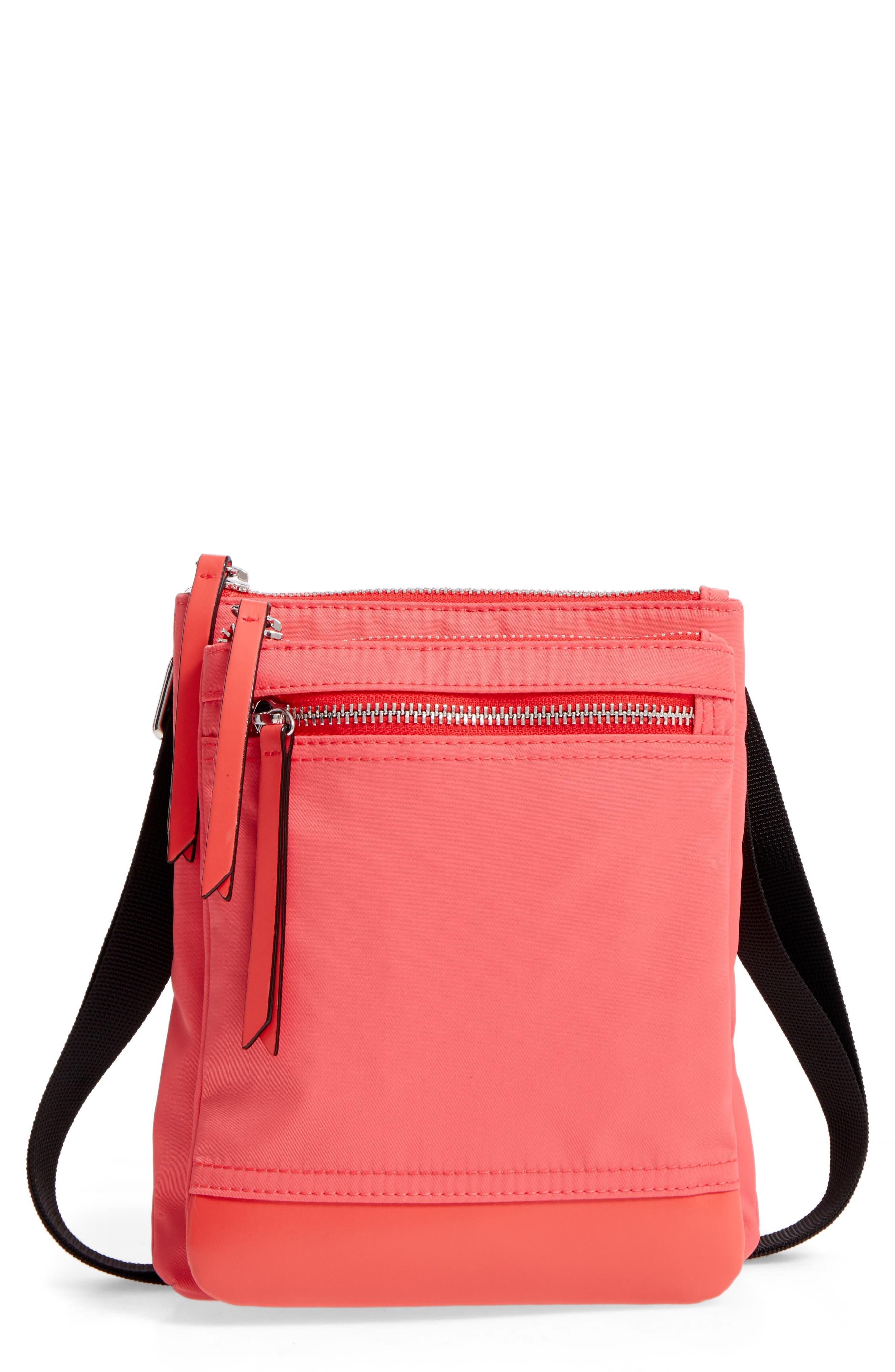Lodis Zora RFID Nylon & Leather Crossbody Bag
