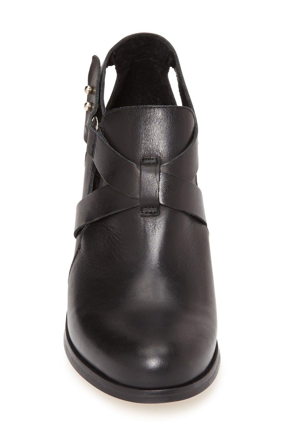 Alternate Image 3  - Topshop 'Mirror' Crisscross Strap Leather Ankle Boot (Women)