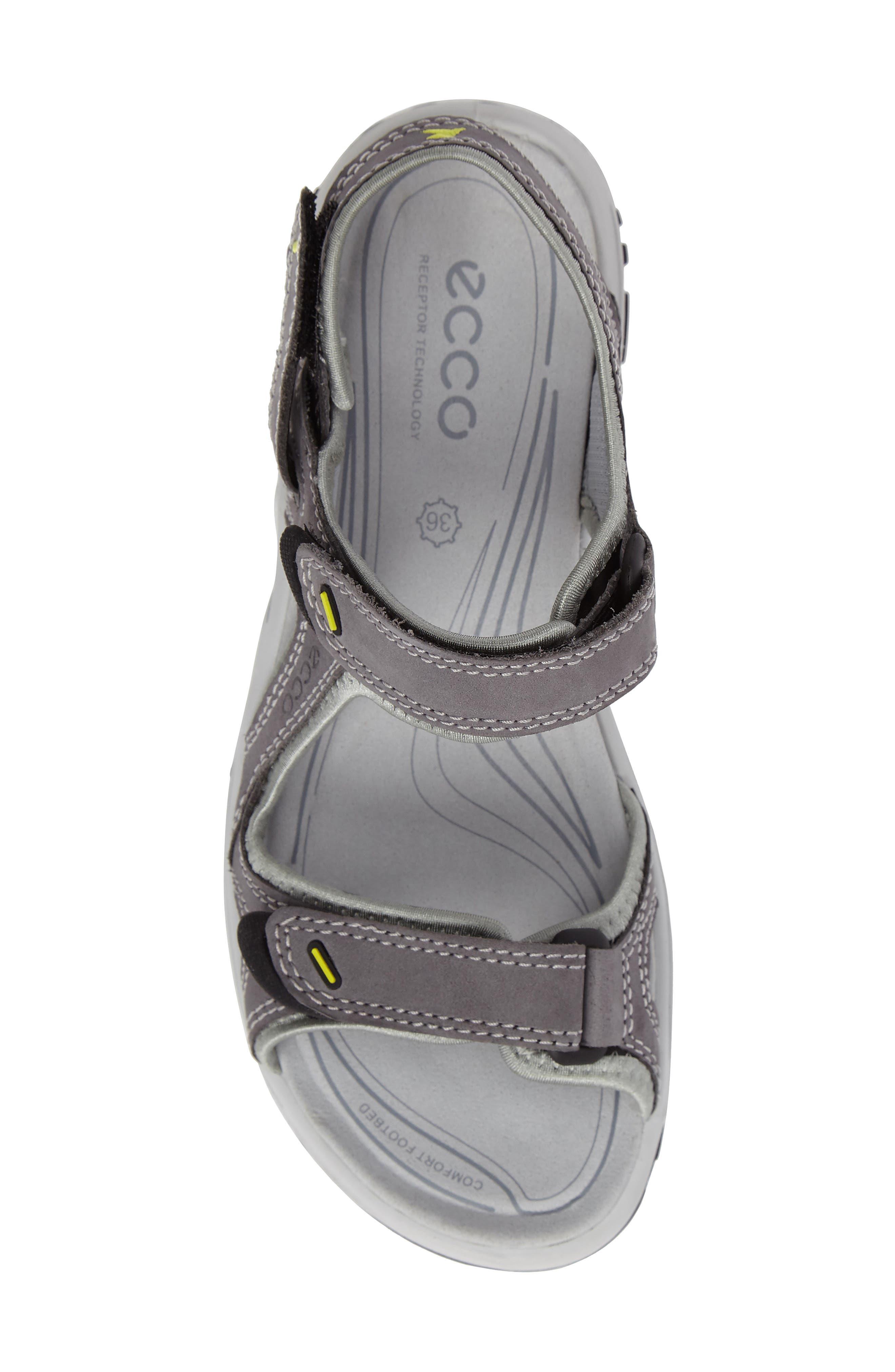 'Offroad' Lightweight Sandal,                             Alternate thumbnail 5, color,                             Titanium Leather