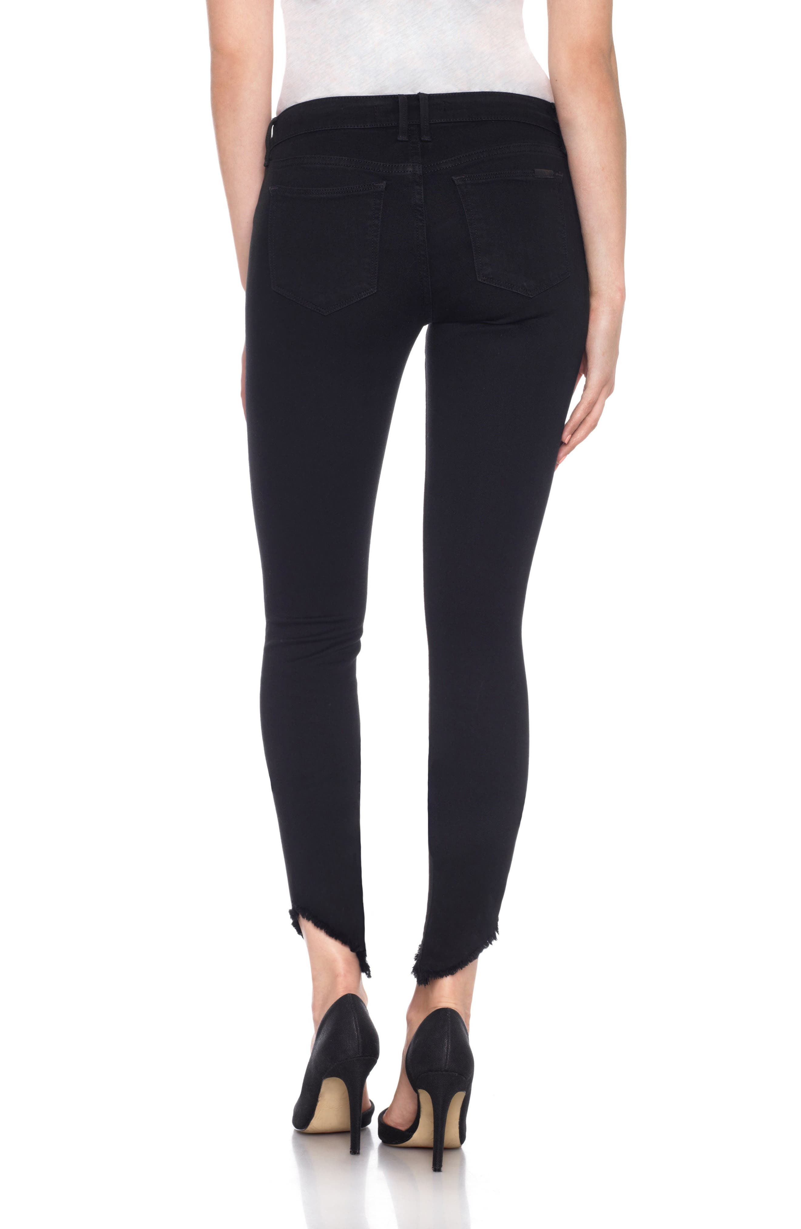 Flawless - Icon Ankle Skinny Jeans,                             Alternate thumbnail 4, color,                             Rosella