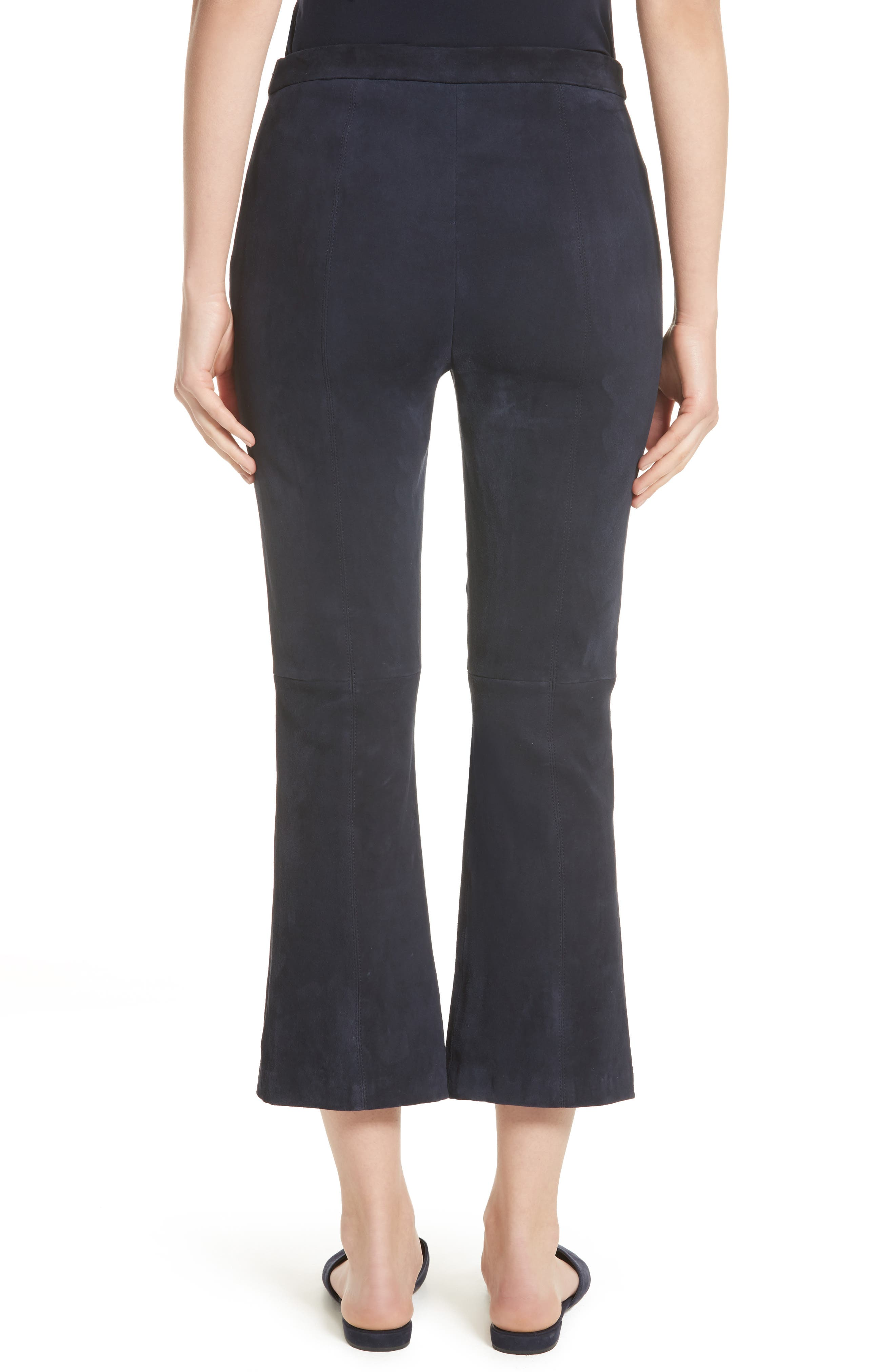 Alternate Image 2  - St. John Collection Stretch Suede Capri Pants