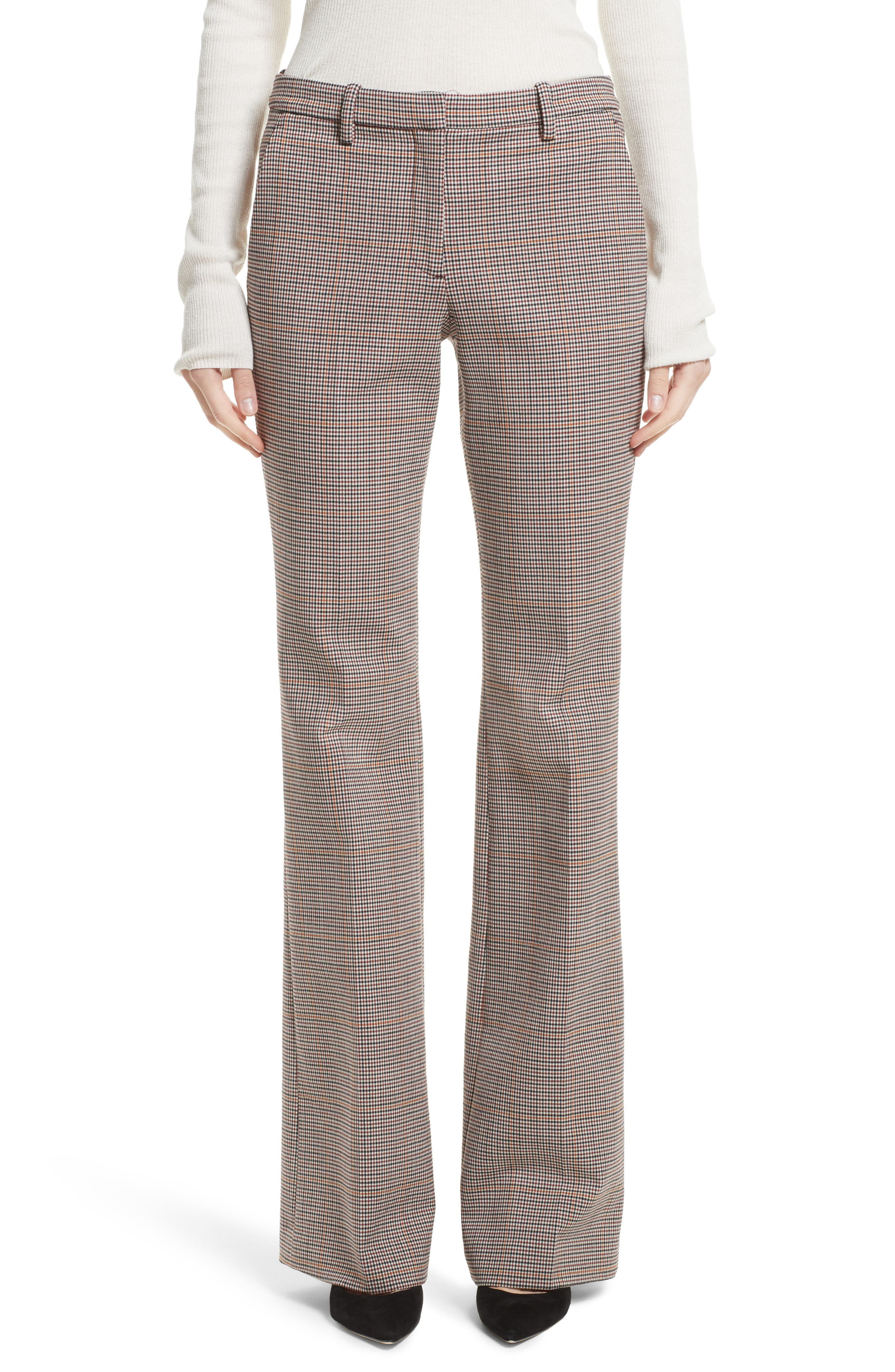 Demitria 2 Flare Leg Stretch Wool Pants,                         Main,                         color, Multi