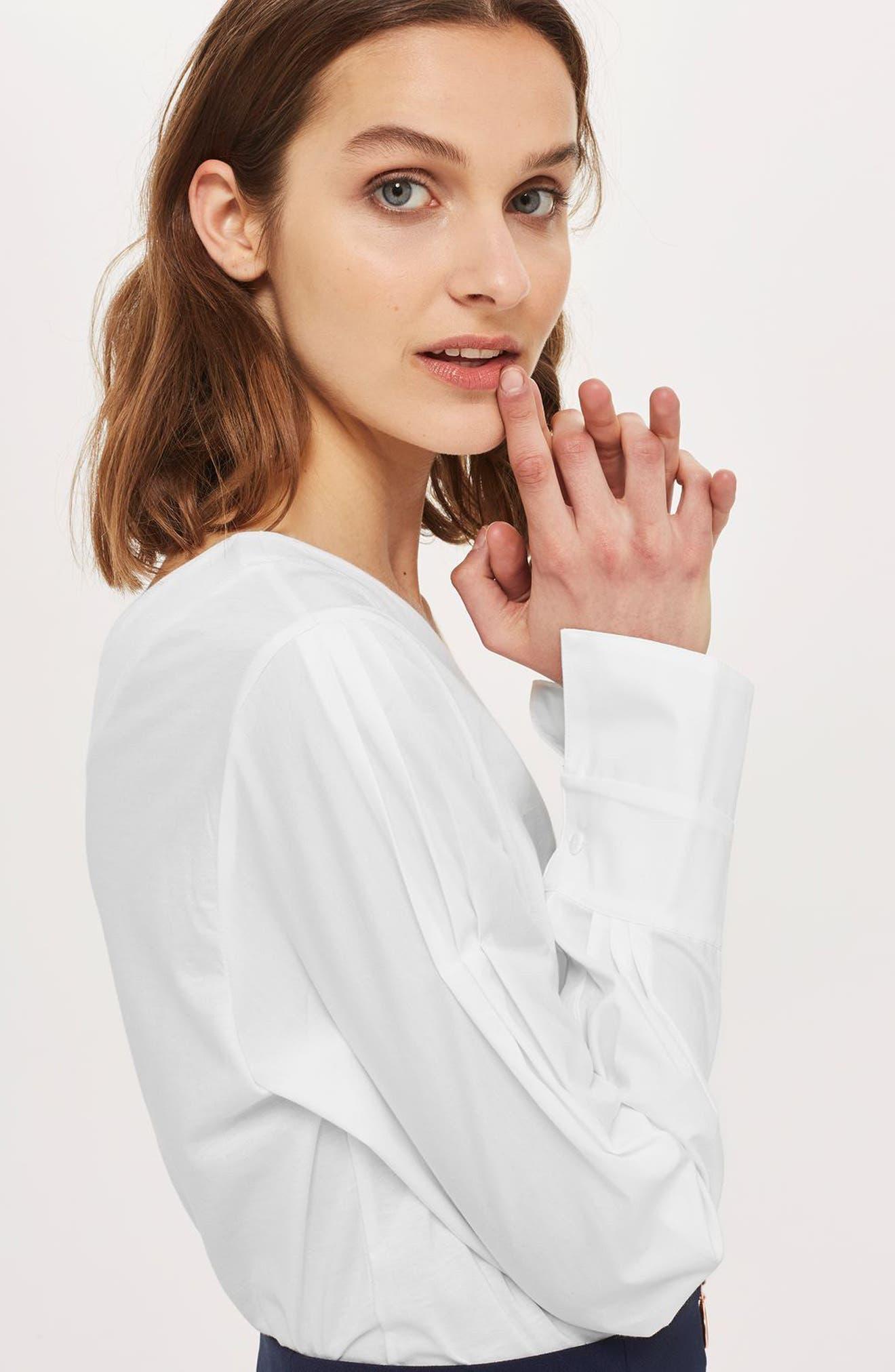 Alternate Image 5  - Topshop One-Shoulder Jersey Top