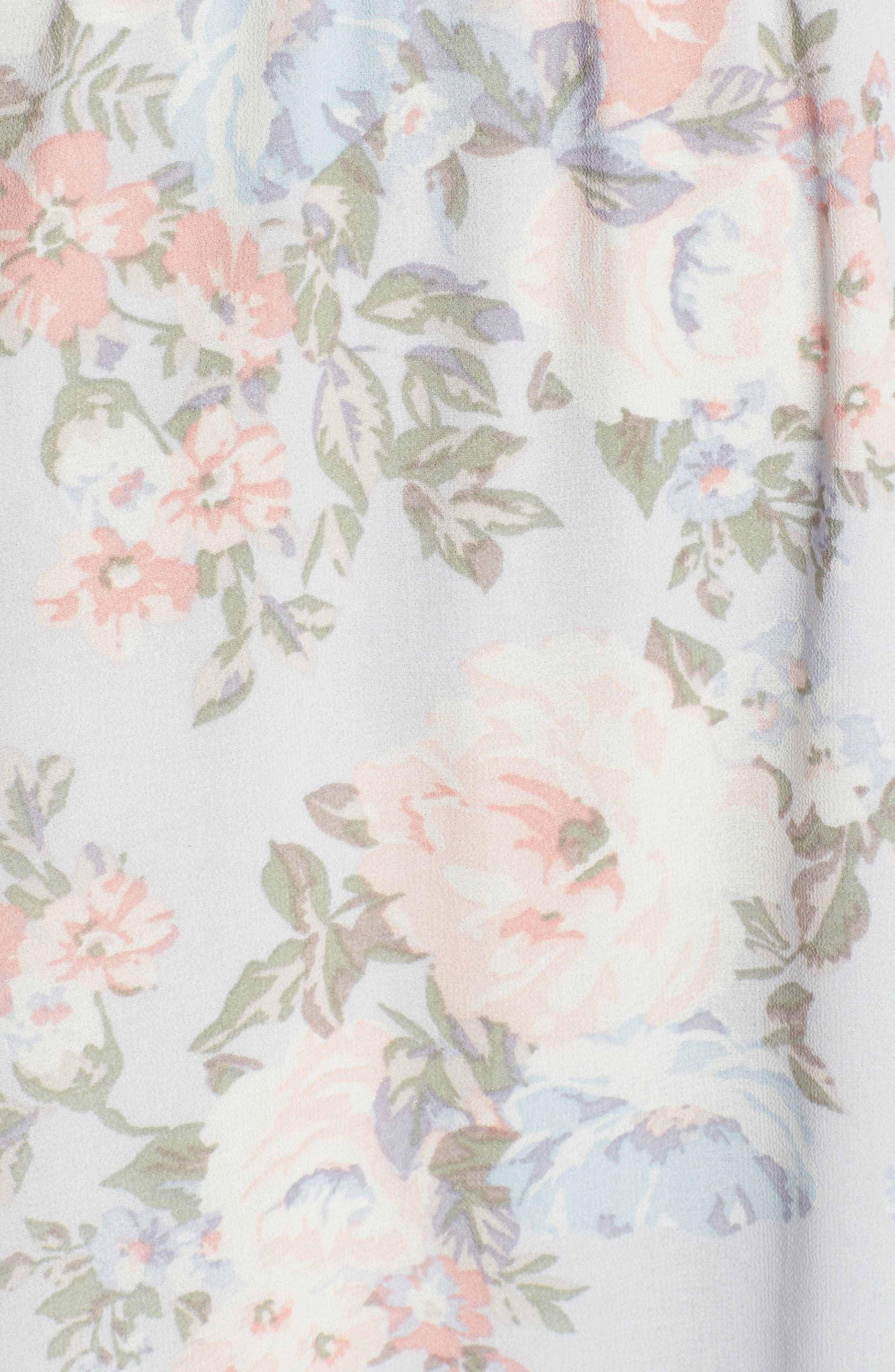 Alternate Image 5  - WAYF Love Note Flutter Sleeve Maxi Dress
