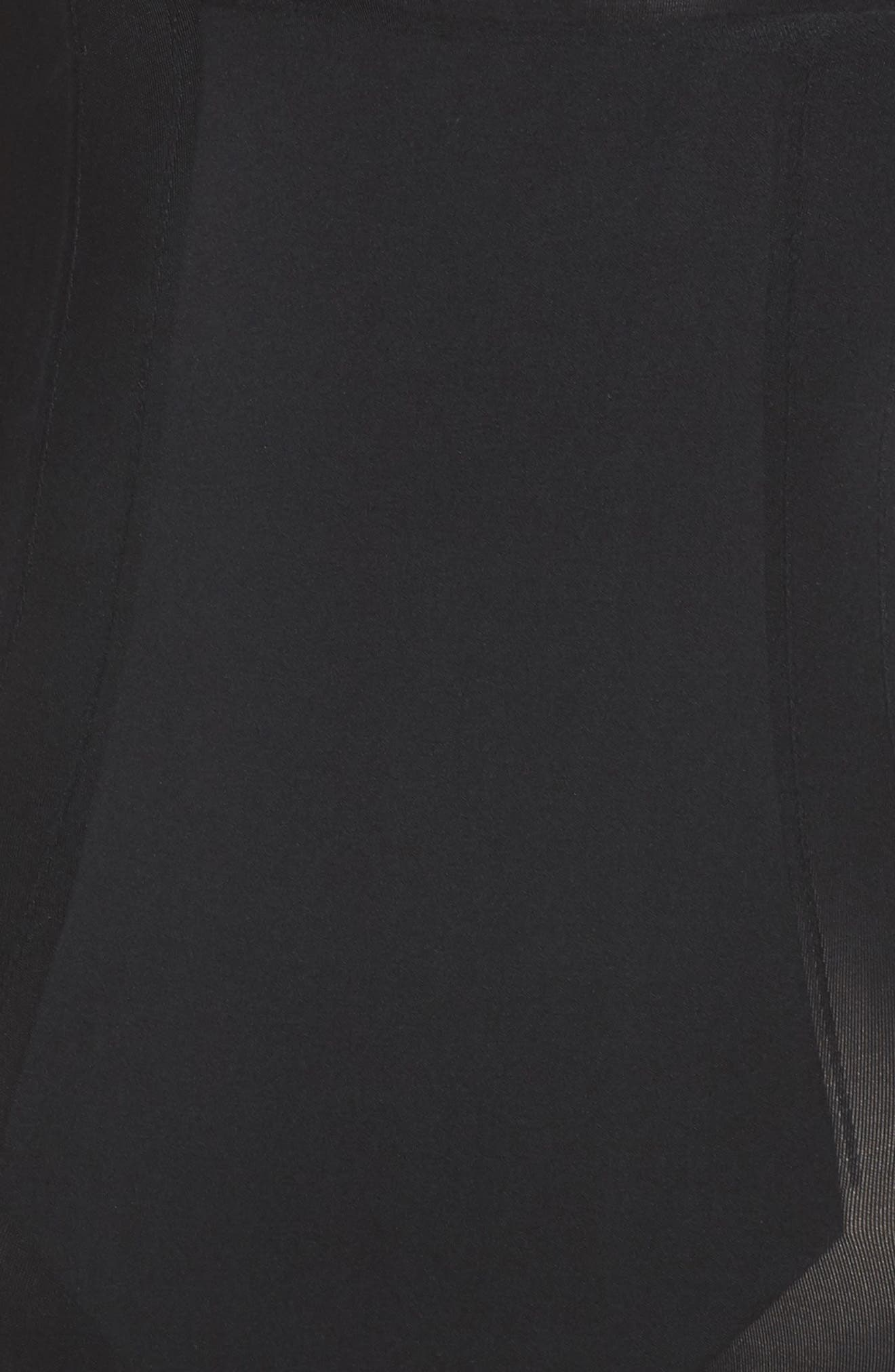 OnCore Open Bust Shaper Bodysuit,                             Alternate thumbnail 5, color,                             Very Black