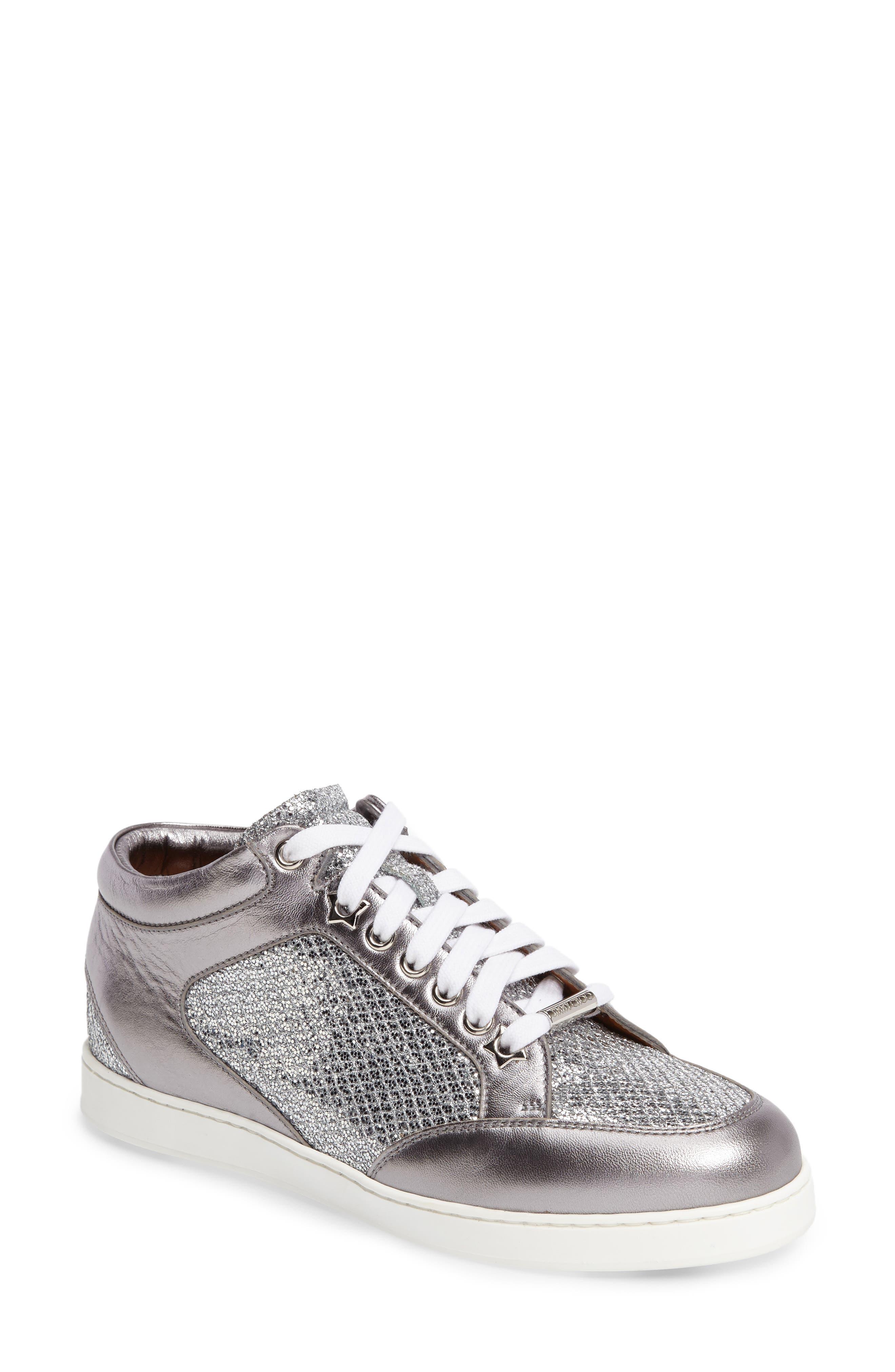 Alternate Image 1 Selected - Jimmy Choo Miami Glitter Sneaker (Women)
