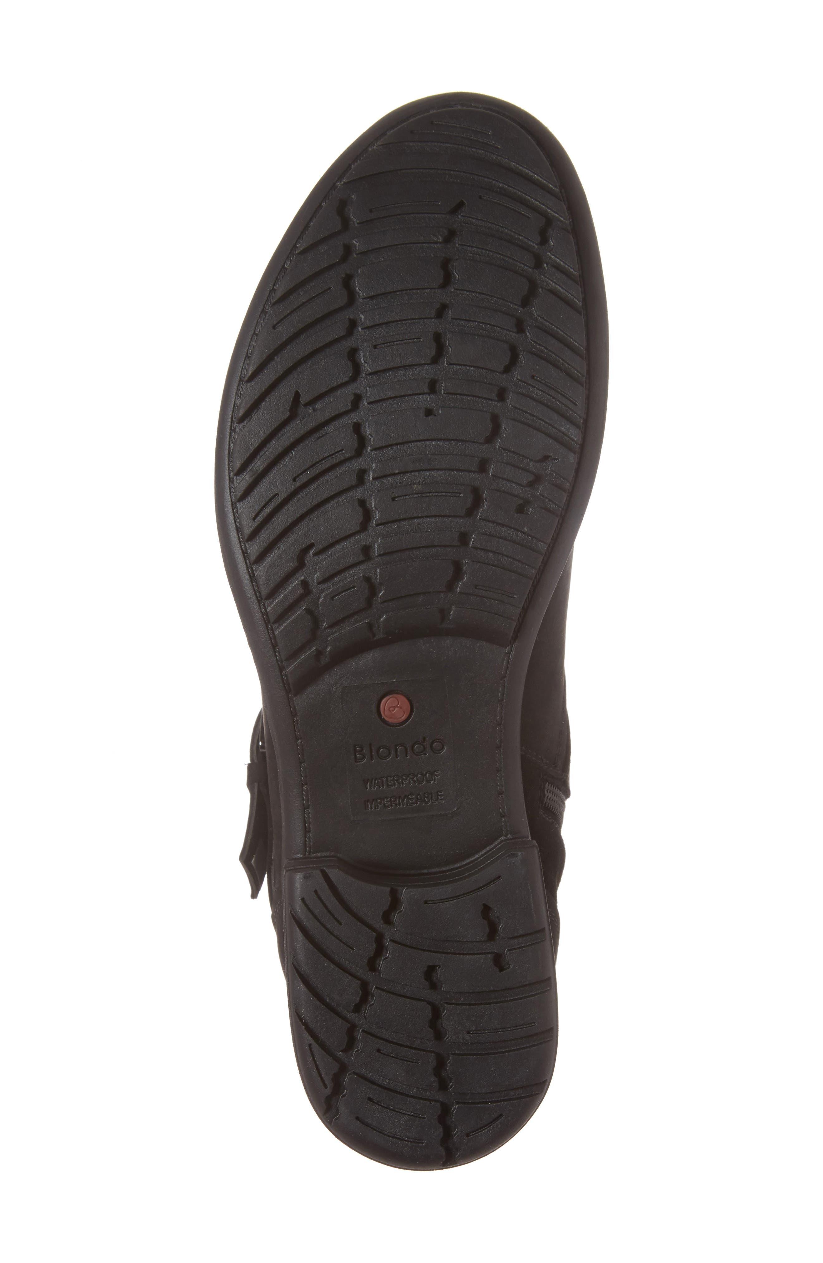 Tula Waterproof Boot,                             Alternate thumbnail 5, color,                             Black Nubuck Leather
