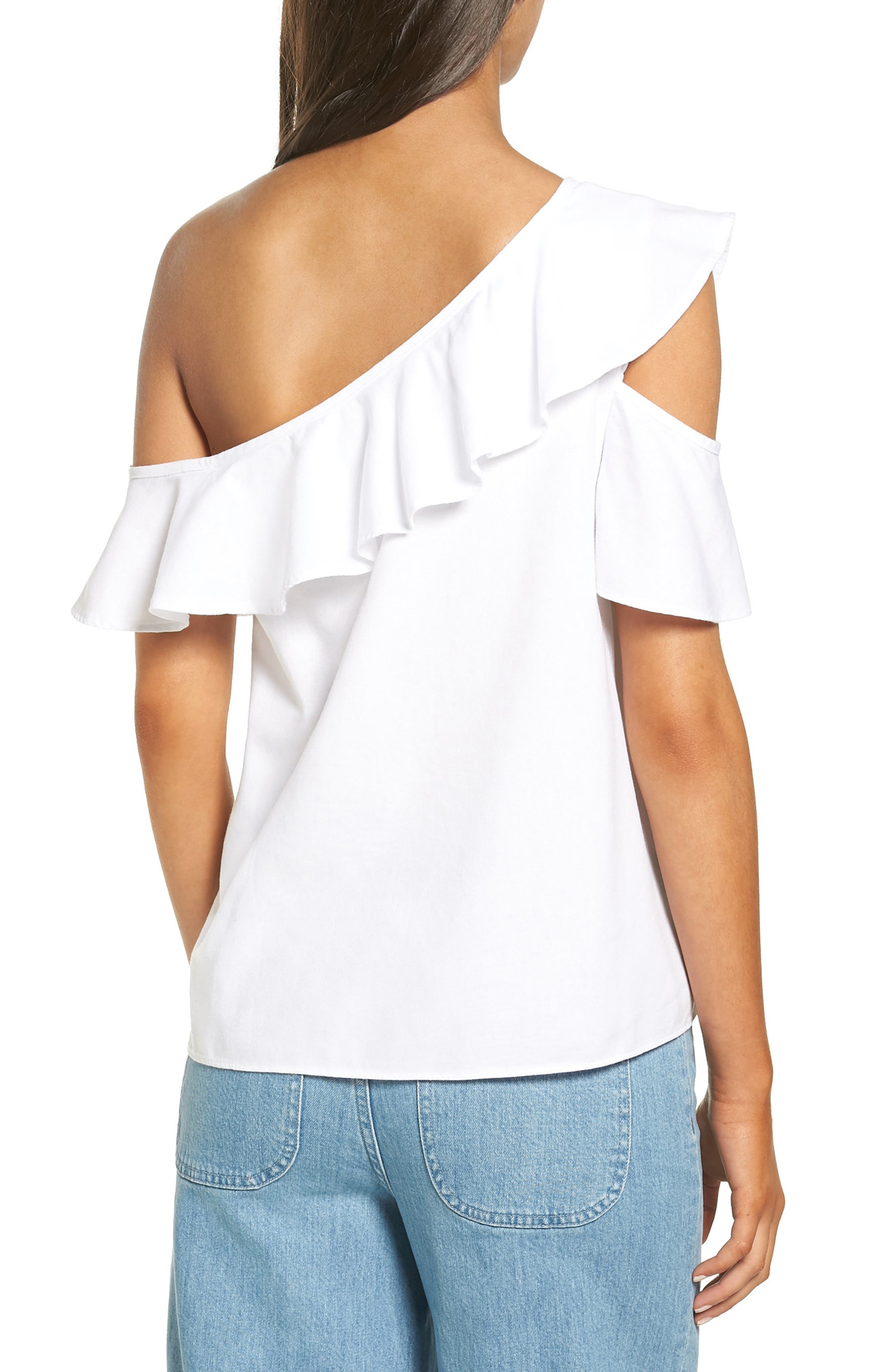 Alternate Image 2  - Madewell One Shoulder Ruffle Top