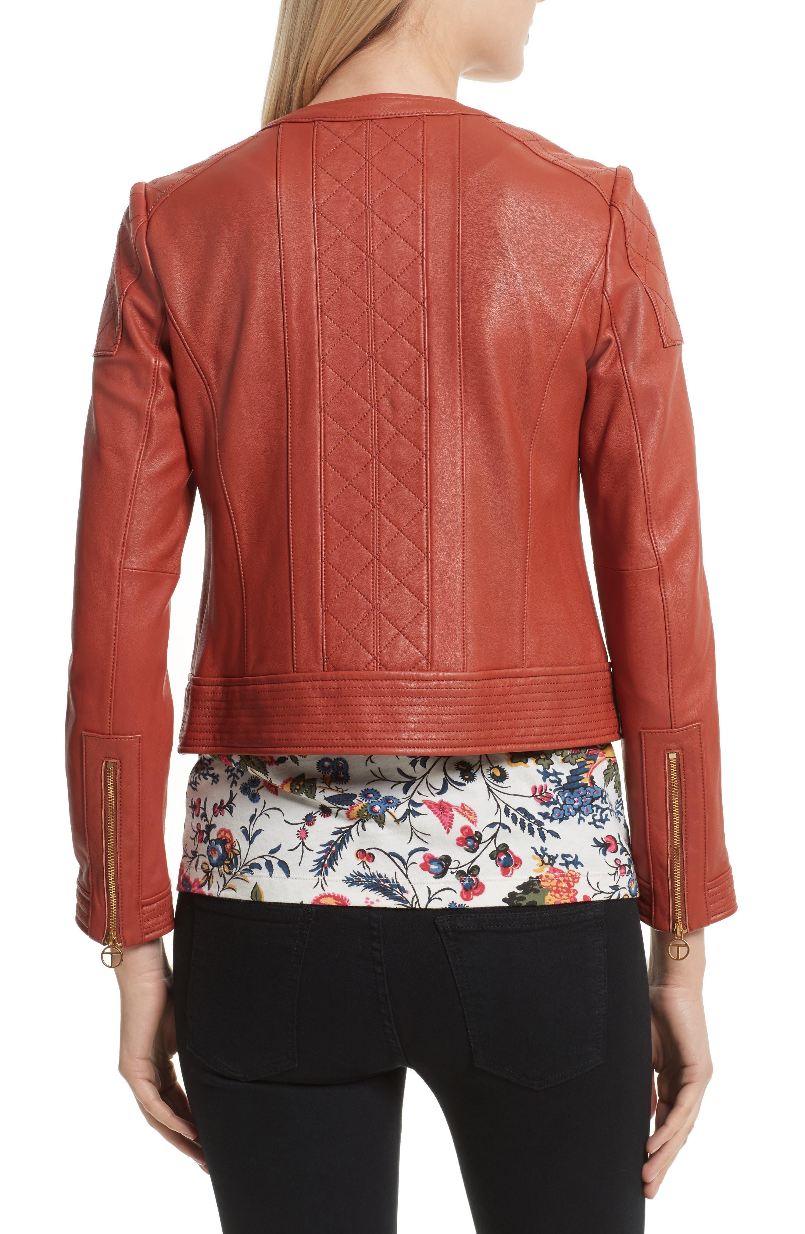 Alternate Image 2  - Tory Burch Ryder Leather Jacket