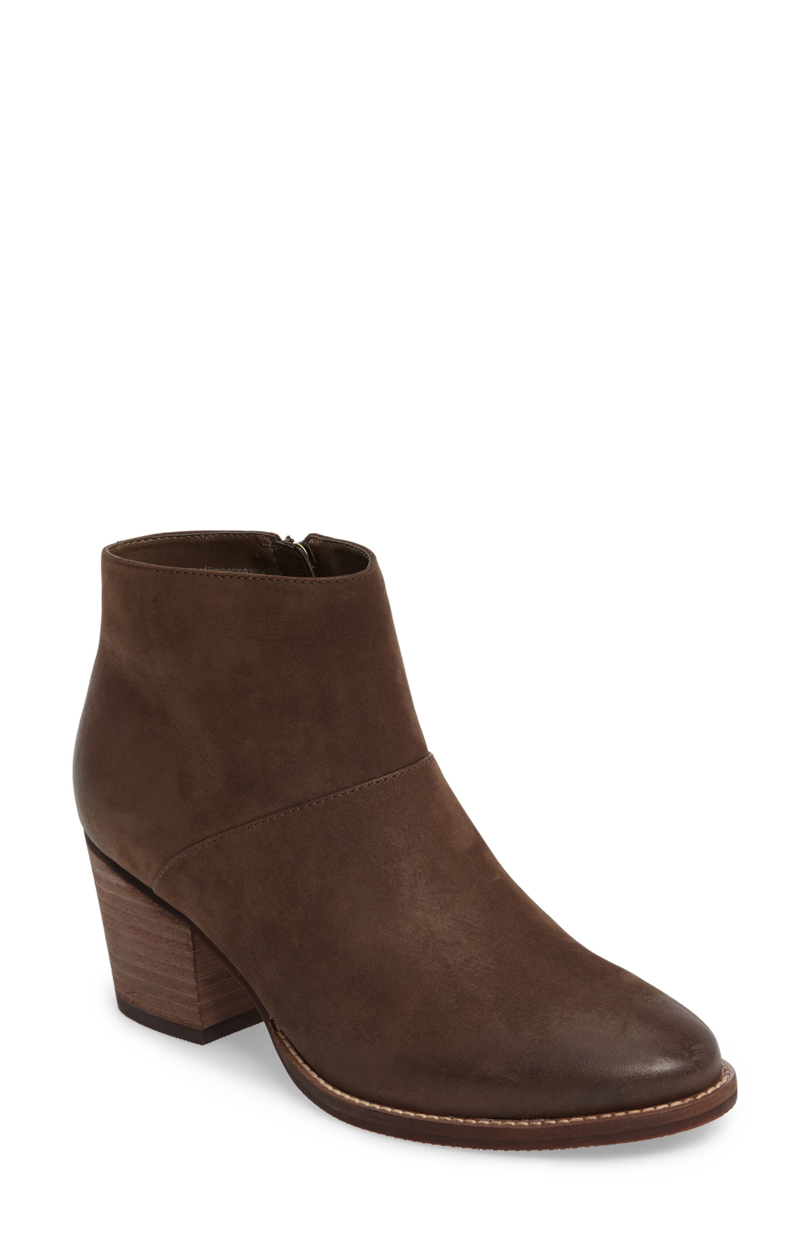 Nelli Waterproof Bootie,                             Main thumbnail 1, color,                             Taupe Nubuck Leather