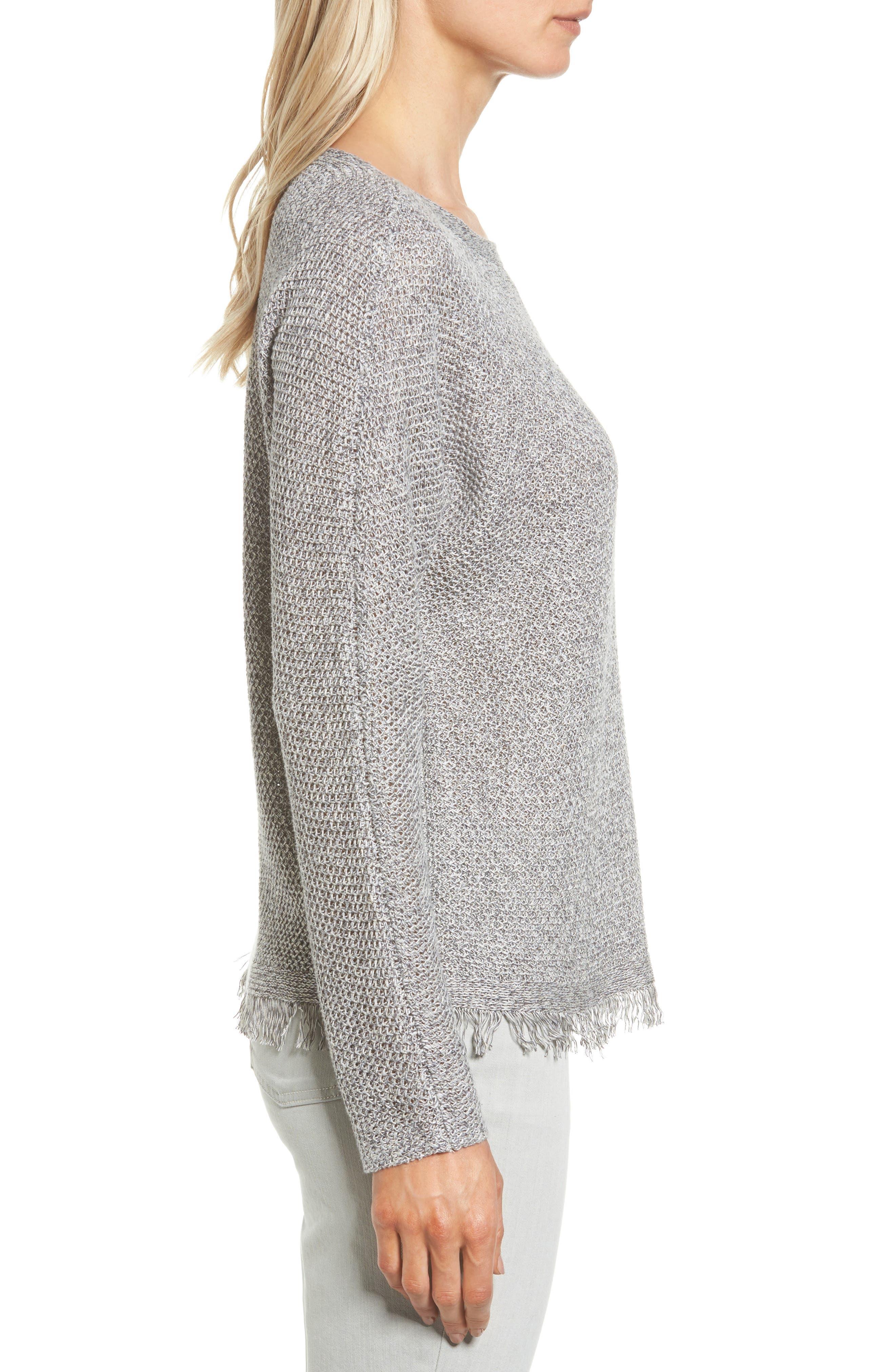 Alternate Image 3  - Eileen Fisher Organic Linen Pullover (Regular & Petite)