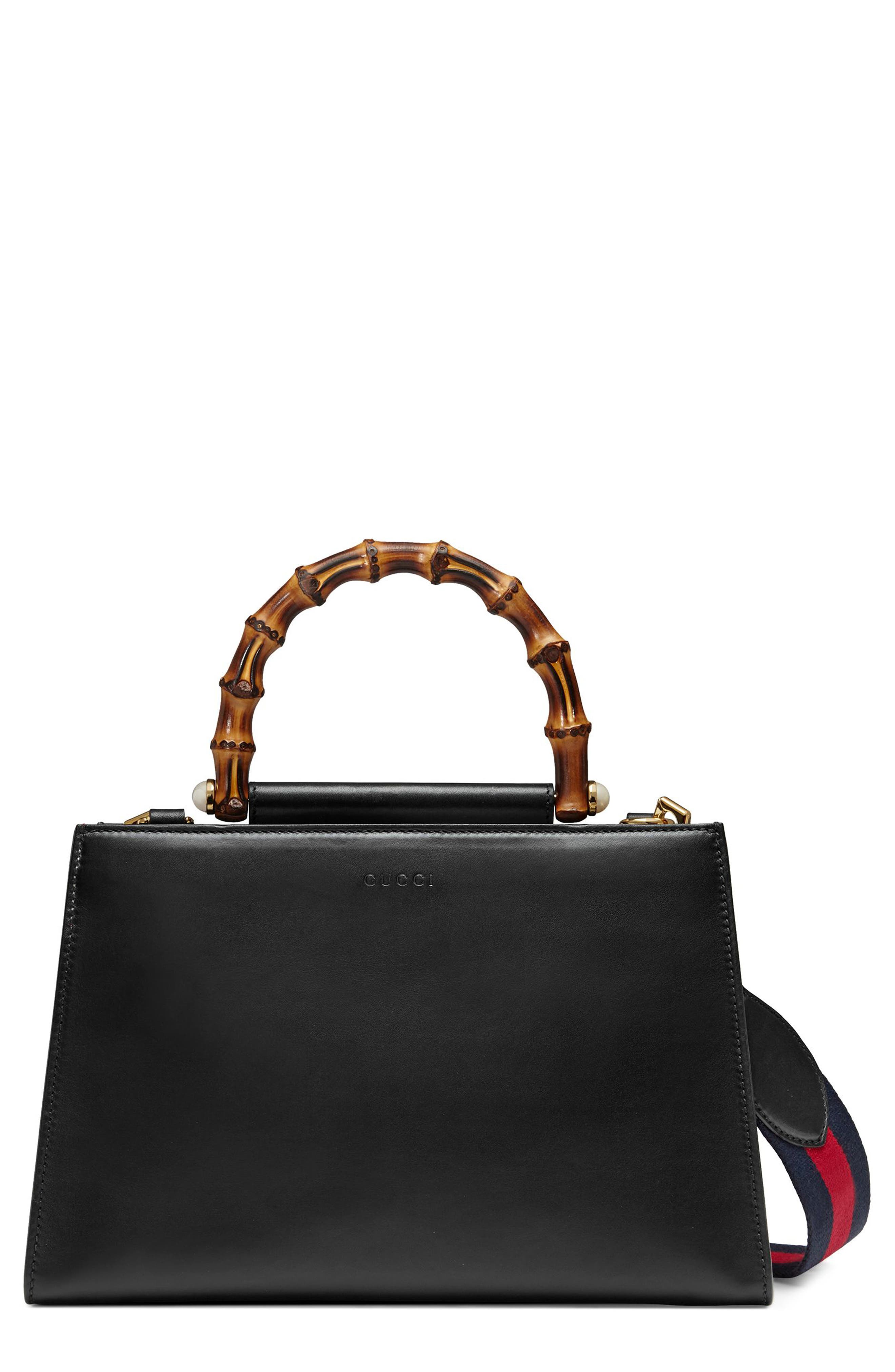 Alternate Image 1 Selected - Gucci Medium Nymphea Bicolor Leather Top Handle Satchel
