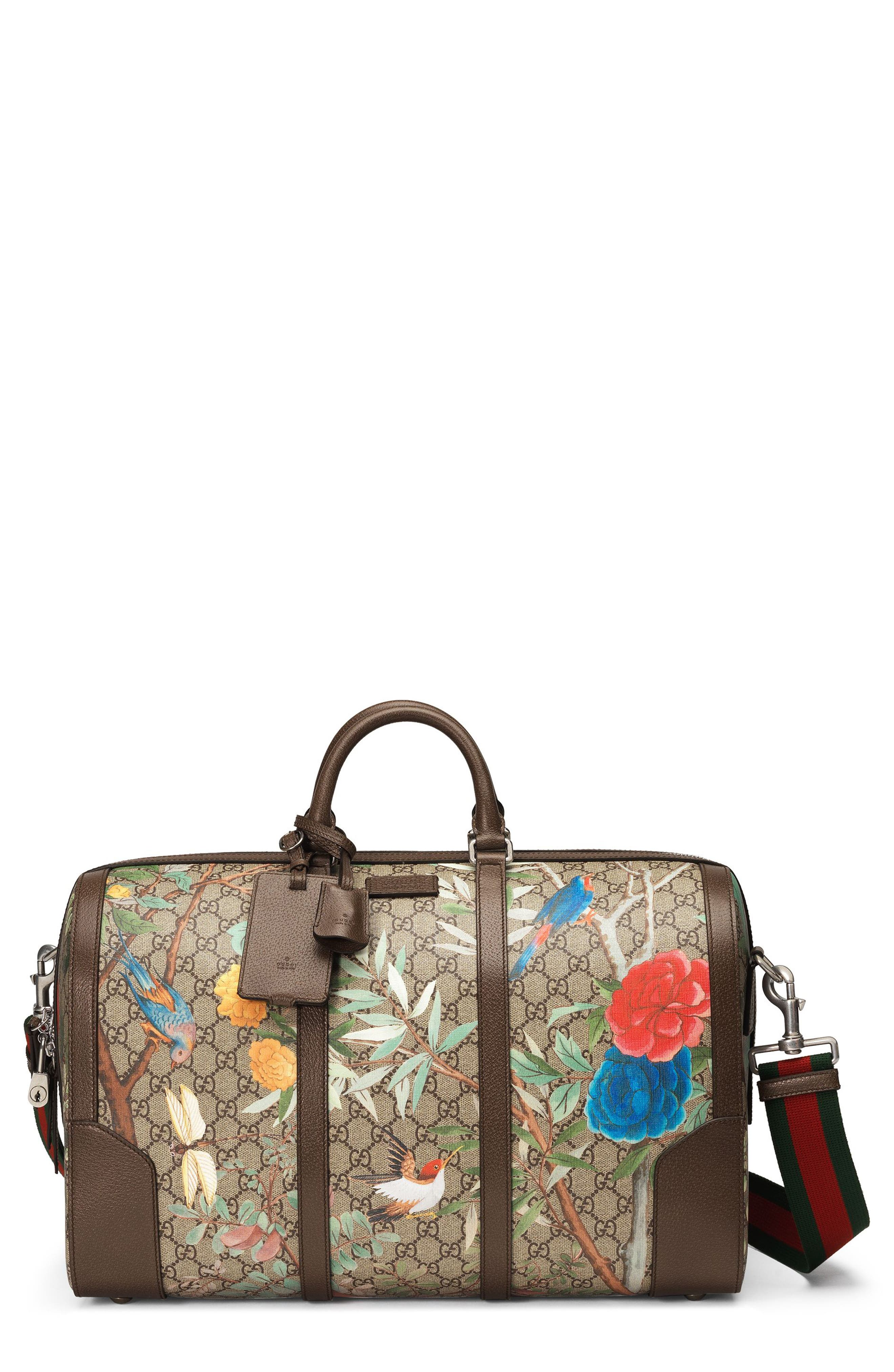 Gucci Tian GG Supreme Large Canvas Duffel Bag