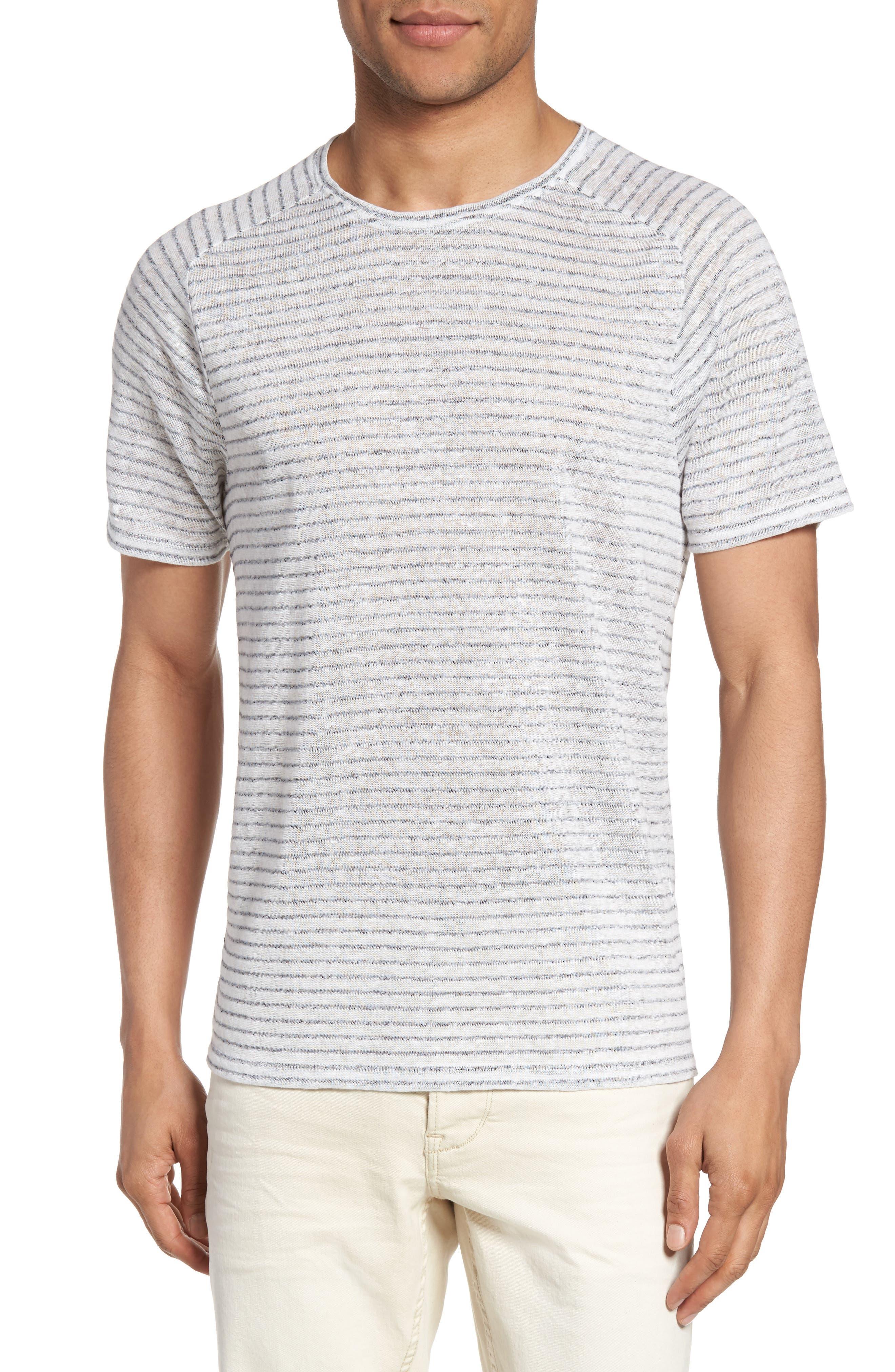 Plated Stripe T-Shirt,                         Main,                         color, Salt