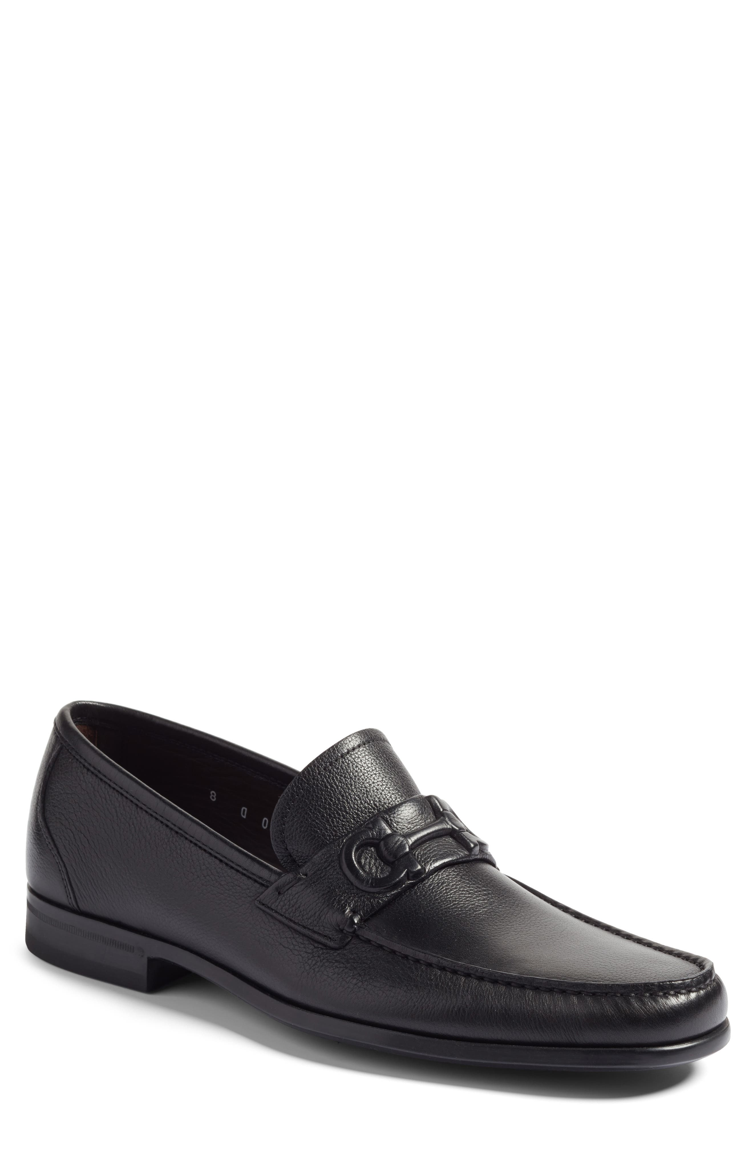 Bit Loafer,                             Main thumbnail 1, color,                             Nero Leather