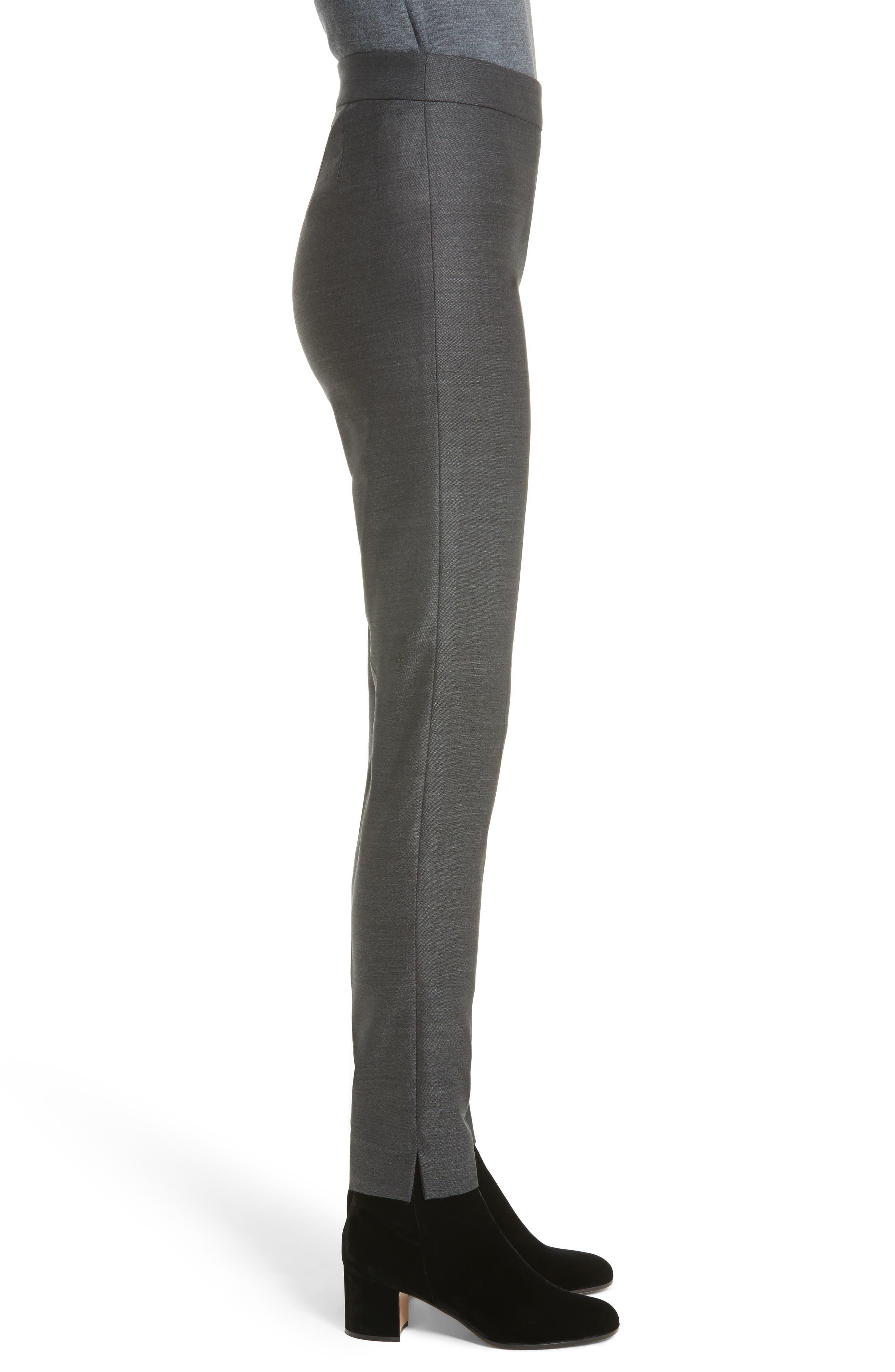 Alternate Image 3  - St. John Collection Stretch Birdseye Skinny Pants