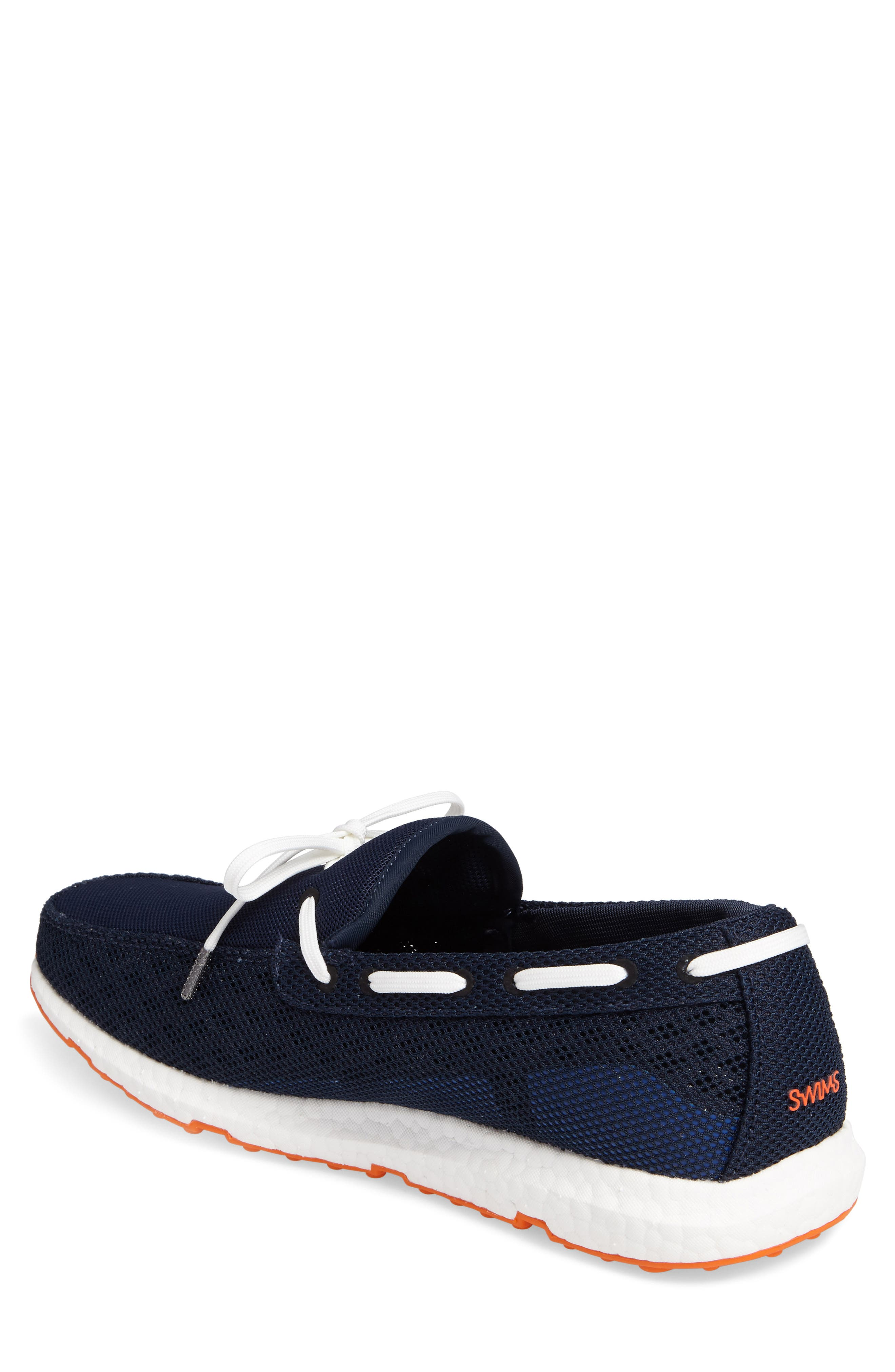Breeze Loafer,                             Alternate thumbnail 2, color,                             Navy/ Orange Fabric