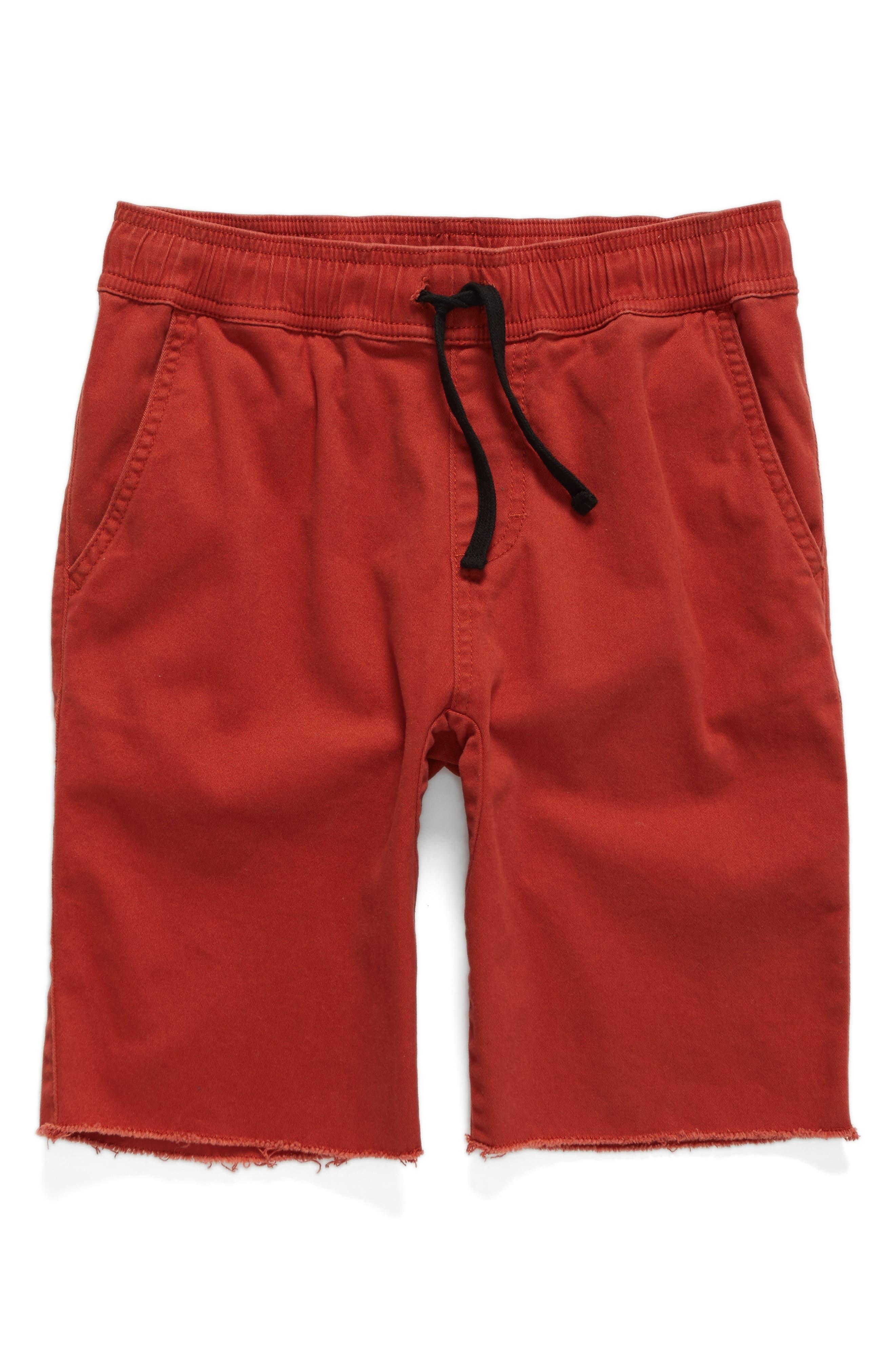 Jogger Shorts,                             Main thumbnail 1, color,                             Red Ochre