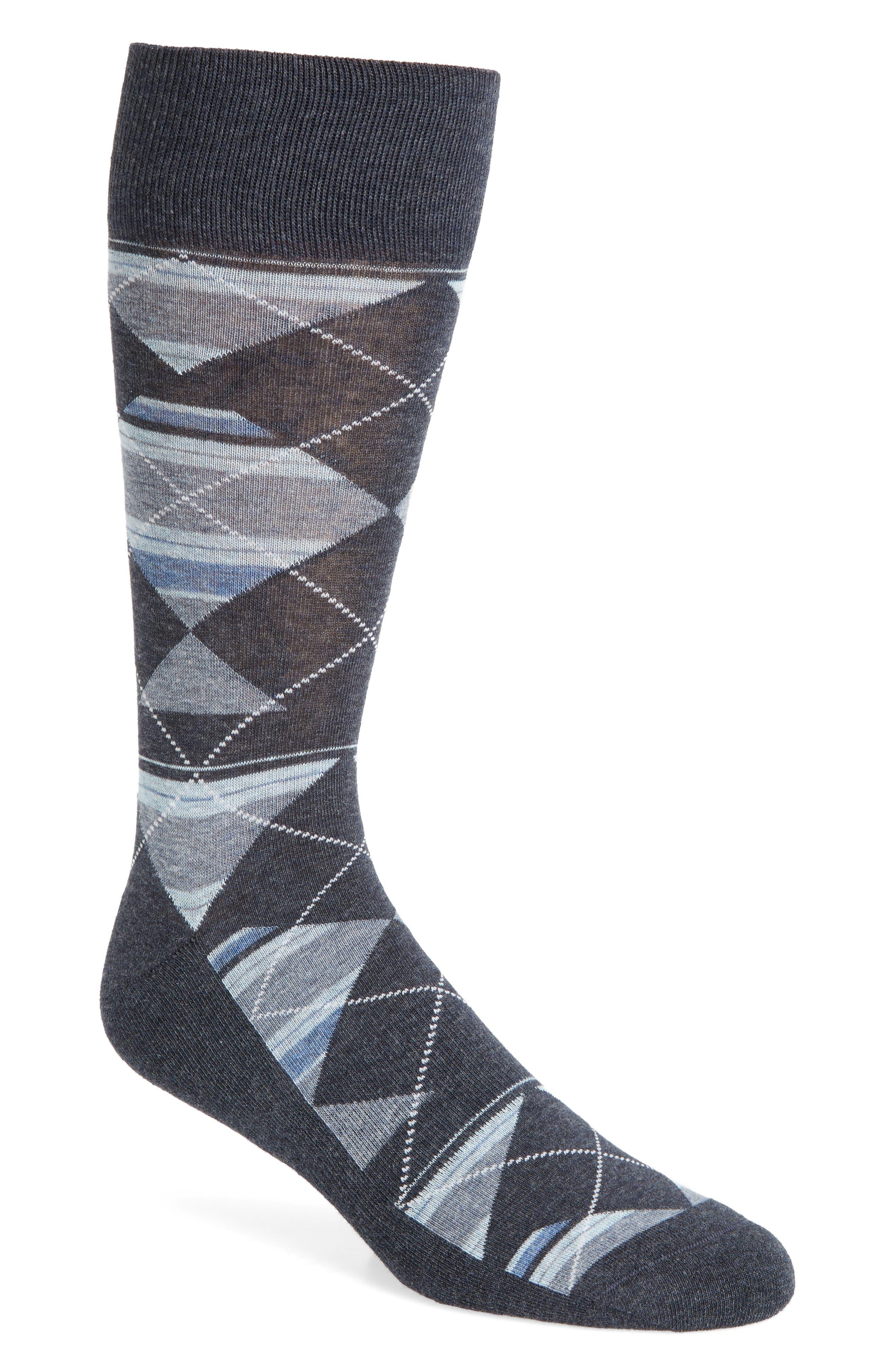Multistripe Argyle Socks,                         Main,                         color, Navy Heather