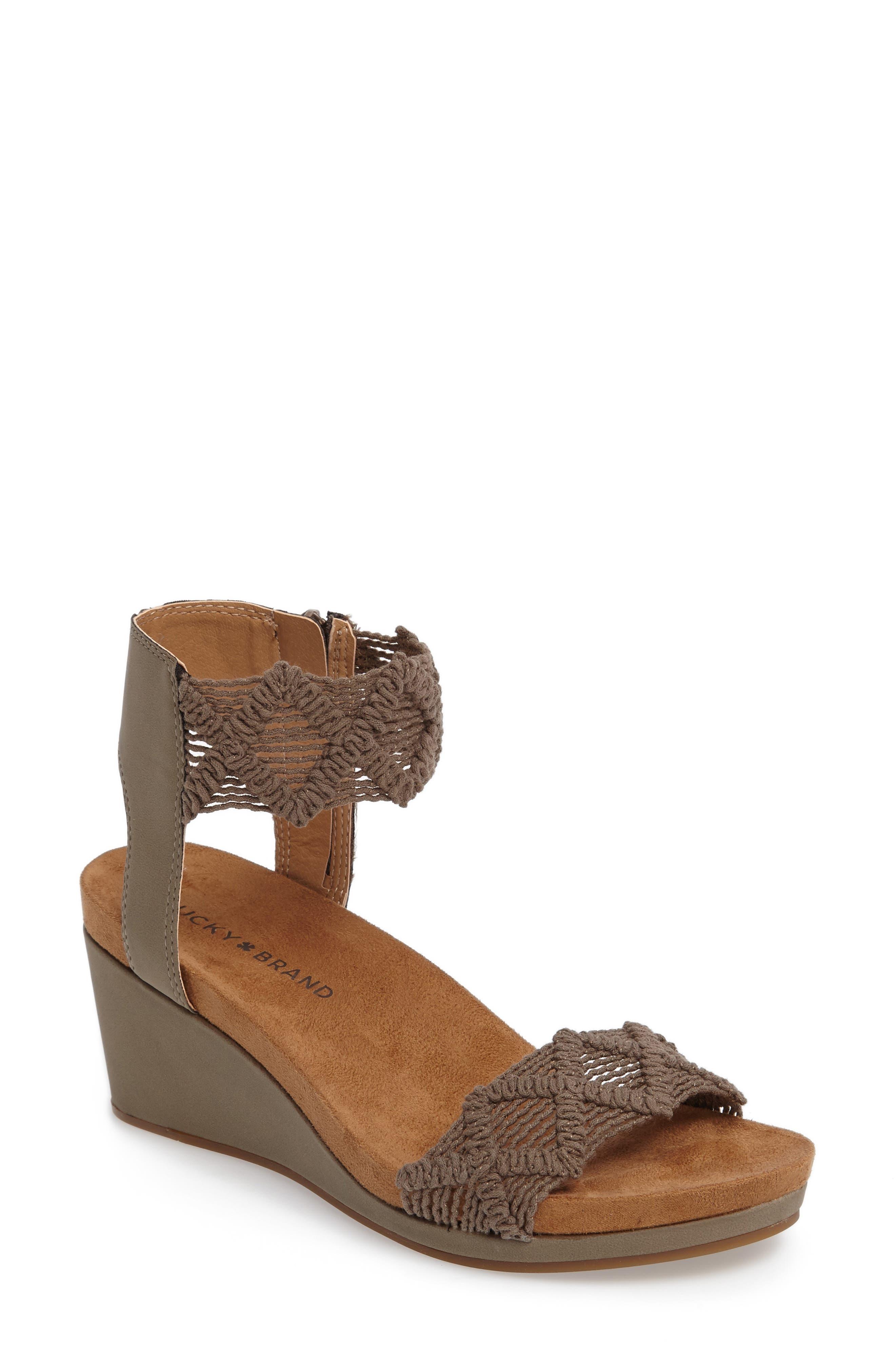 Alternate Image 1 Selected - Lucky Brand Kierlo Wedge Sandal (Women)